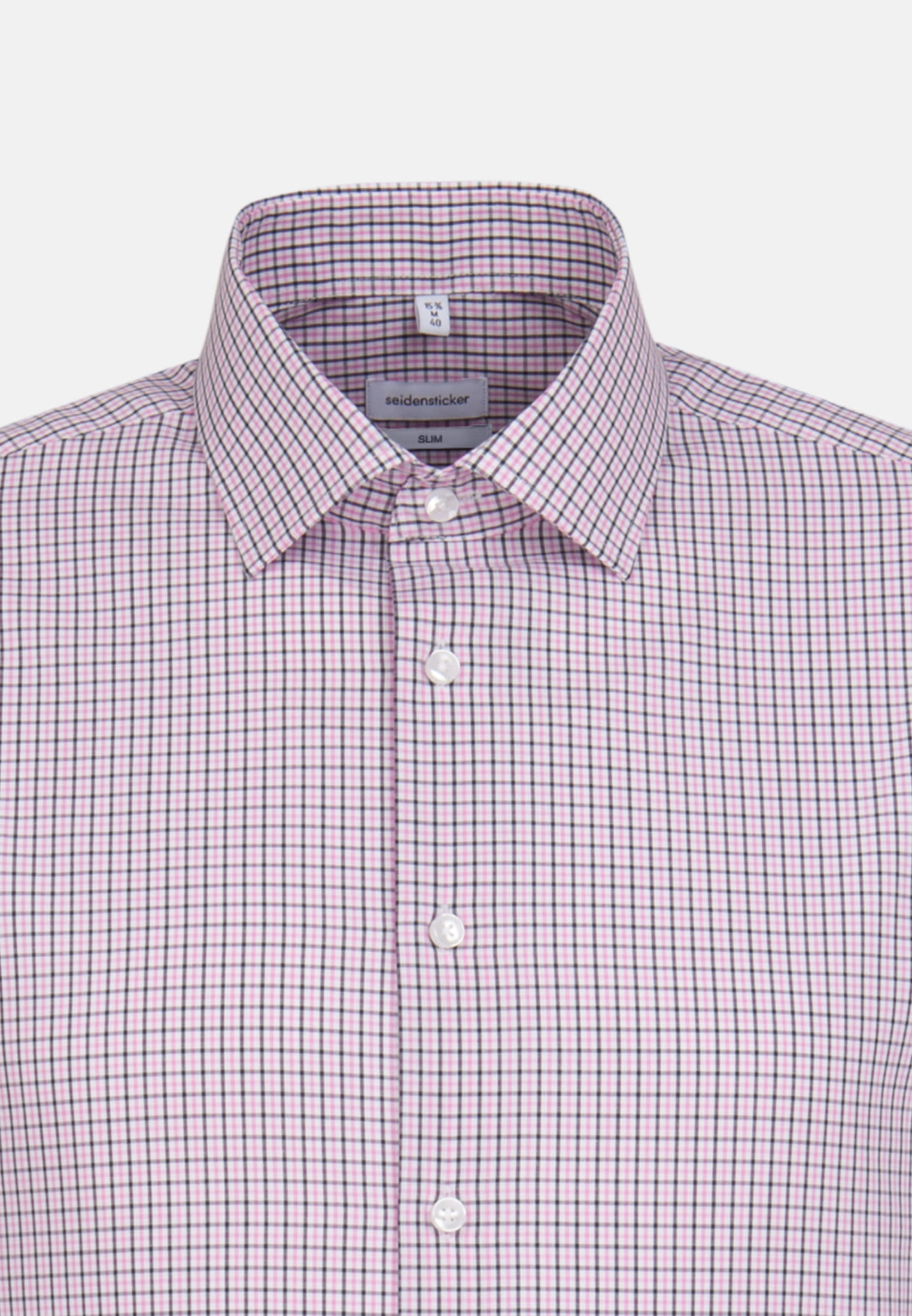 Non-iron Poplin Business Shirt in Slim with Kent-Collar in Pink |  Seidensticker Onlineshop