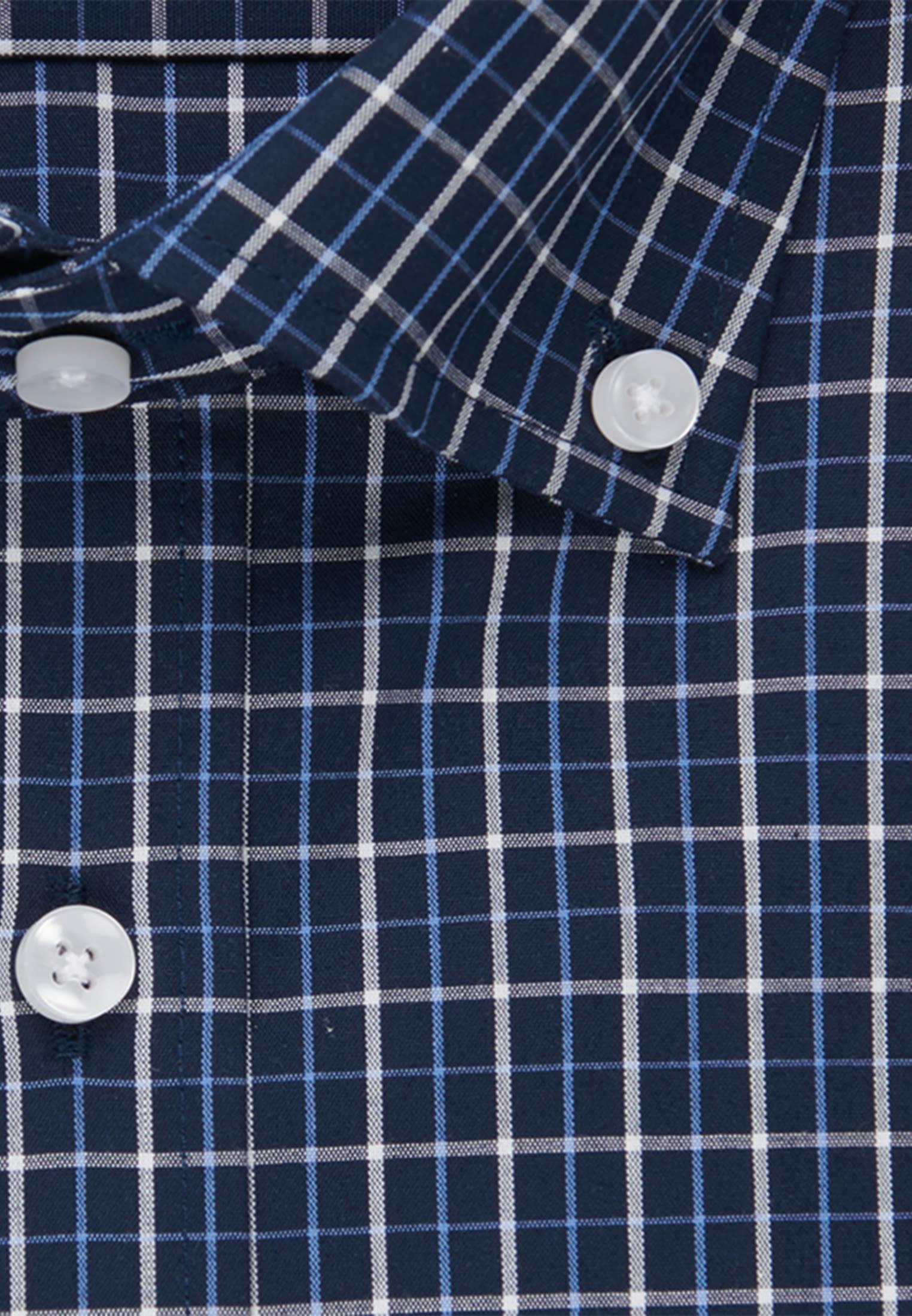 Bügelfreies Popeline Business Hemd in Regular mit Button-Down-Kragen in Dunkelblau    Seidensticker Onlineshop