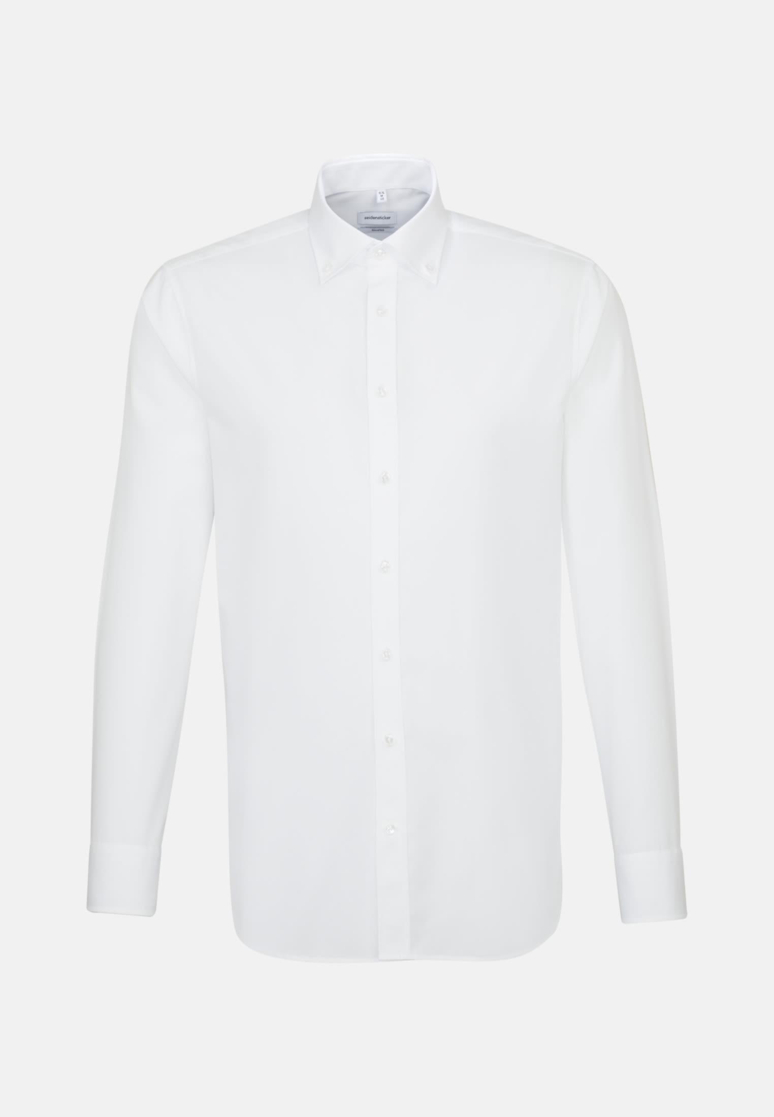 Bügelfreies Popeline Business Hemd in Shaped mit Button-Down-Kragen in Weiß |  Seidensticker Onlineshop