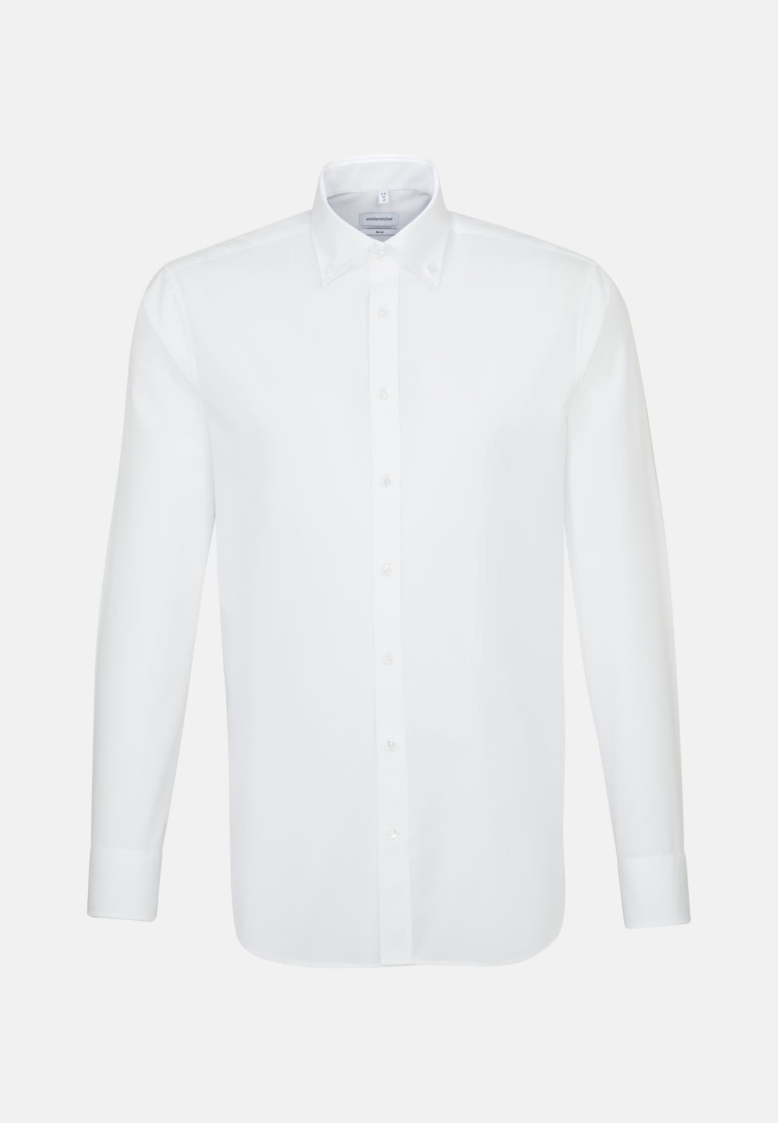 Non-iron Poplin Business Shirt in Slim with Button-Down-Collar in White |  Seidensticker Onlineshop