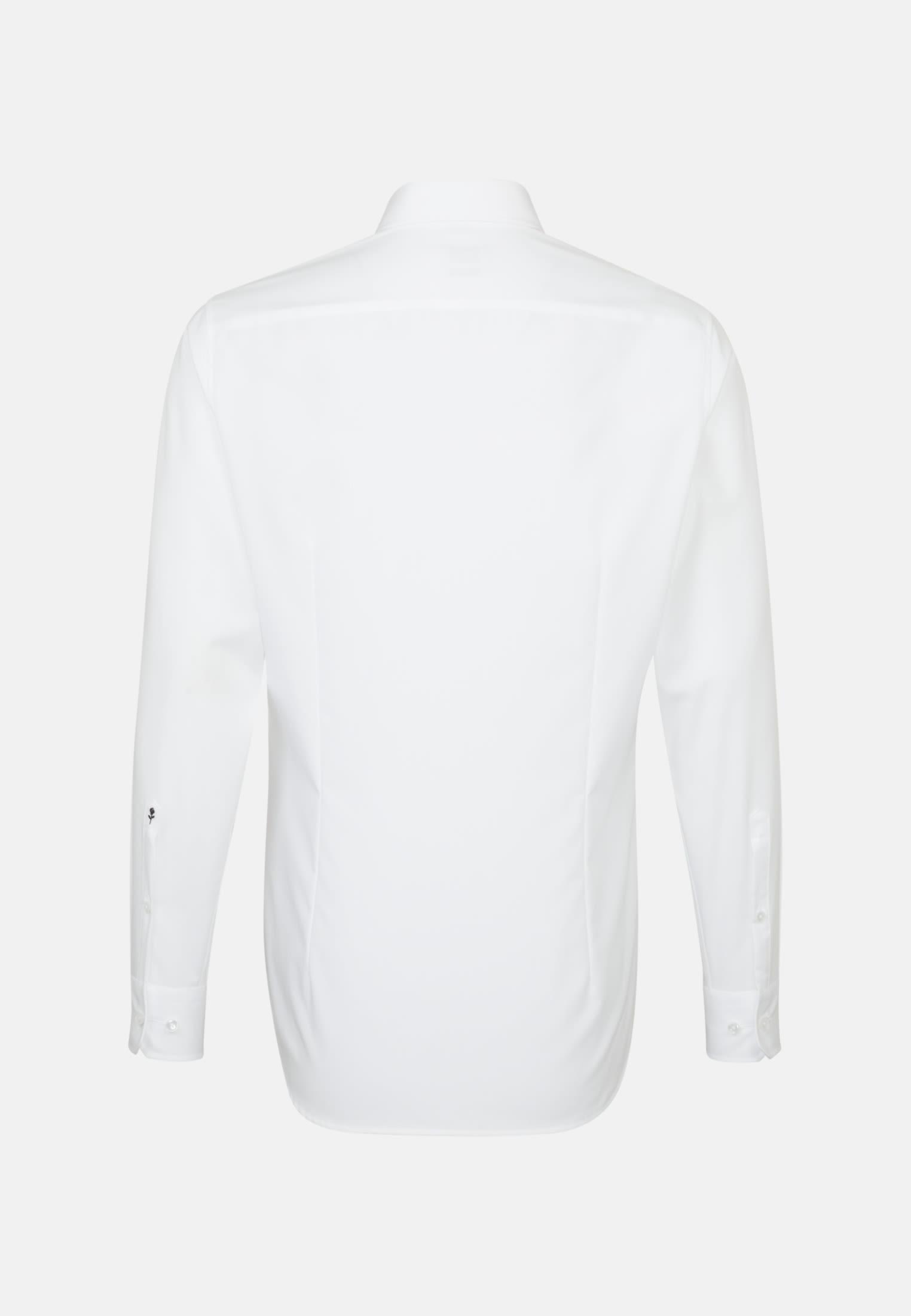 Bügelfreies Popeline Business Hemd in Slim mit Button-Down-Kragen in Weiß    Seidensticker Onlineshop