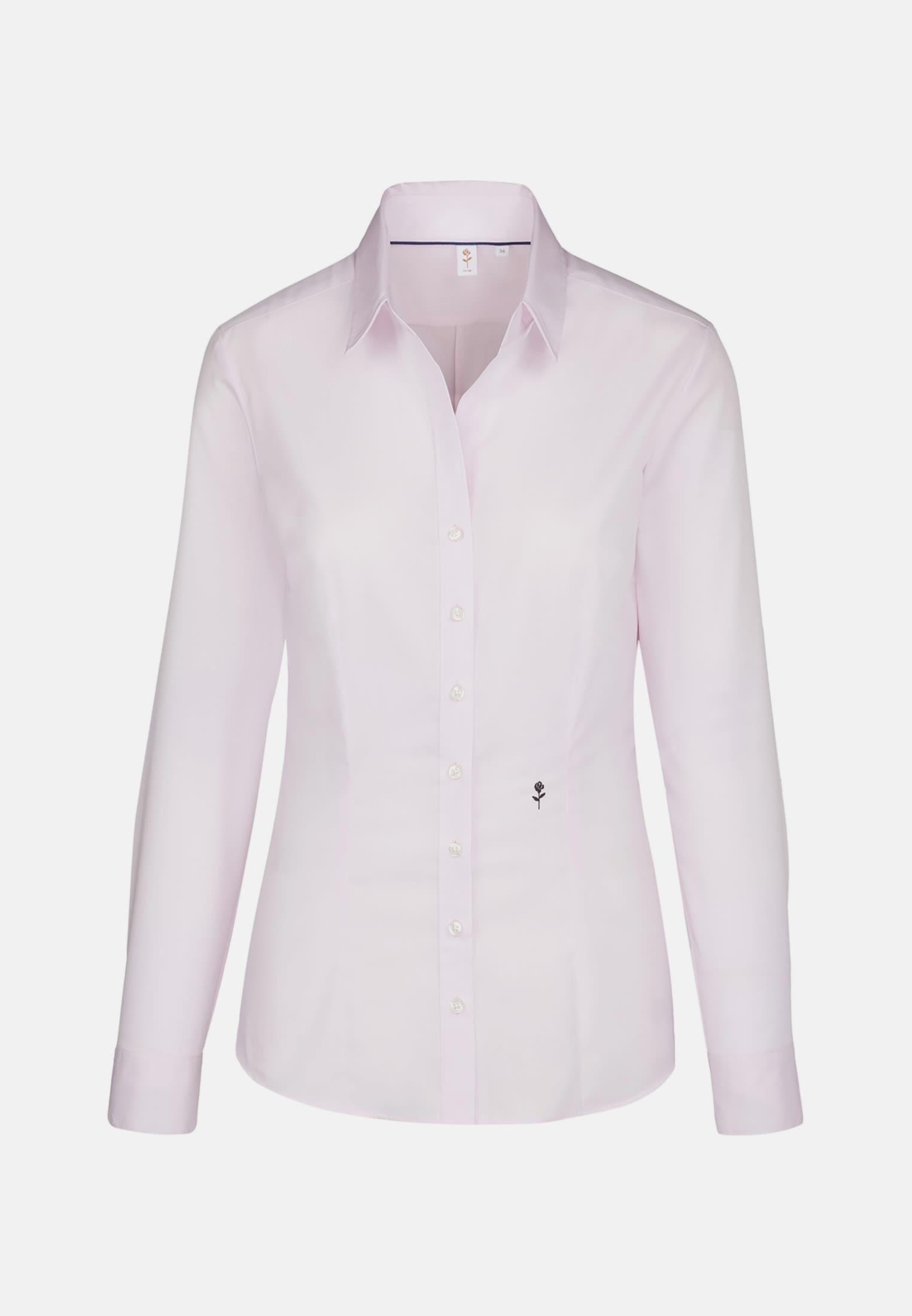 Non-iron Fil a fil Shirt Blouse made of 100% Cotton in Pink |  Seidensticker Onlineshop