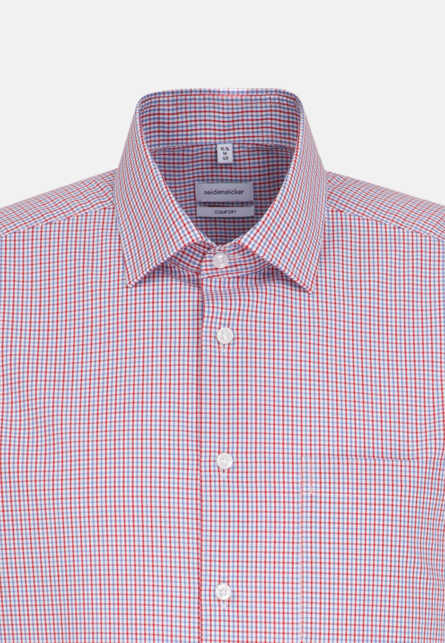 Non-iron Poplin Short sleeve Business Shirt in Comfort with Kent-Collar in Red |  Seidensticker Onlineshop