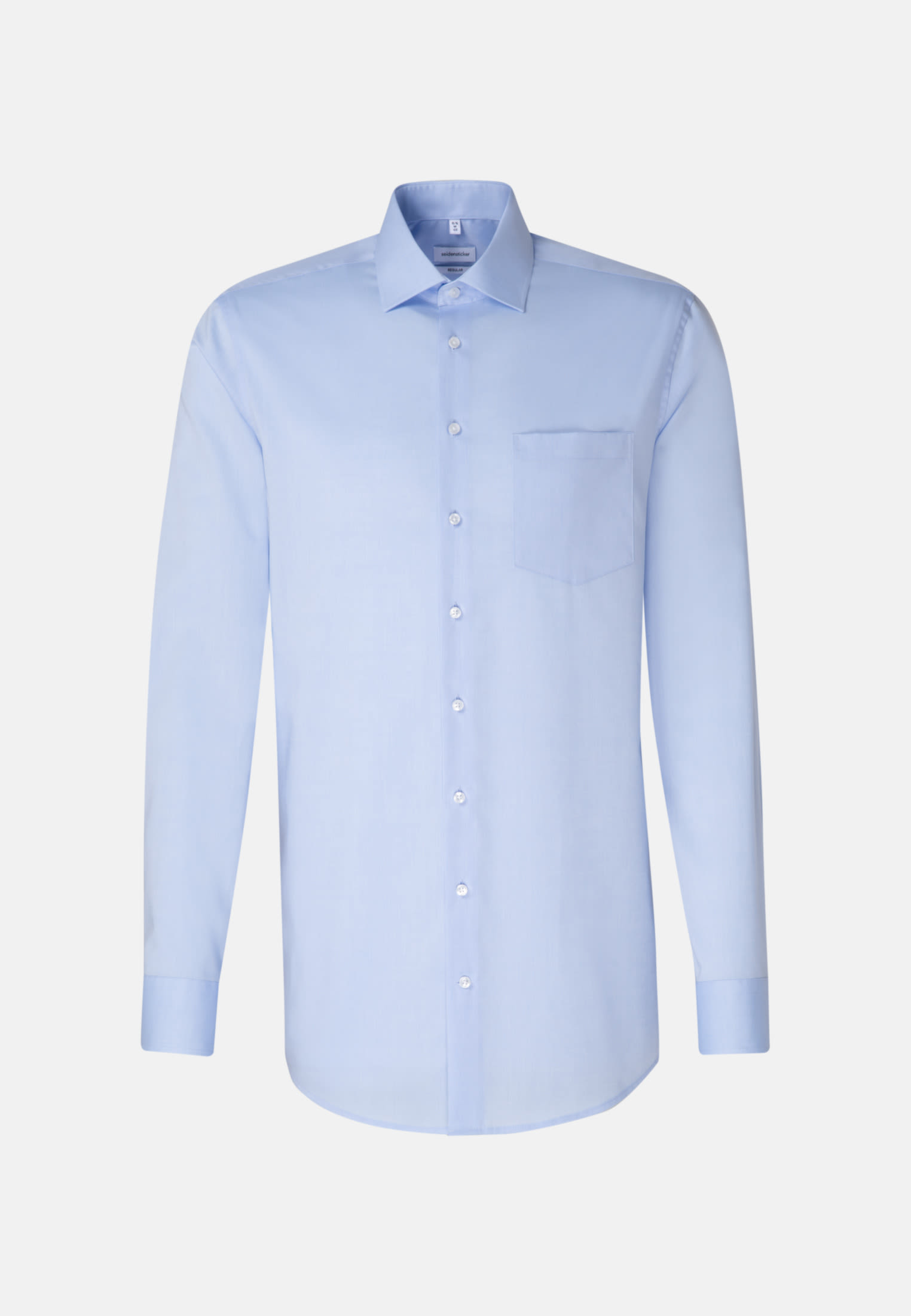 Non-iron Chambray Business Shirt in Regular with Kent-Collar and extra long sleeve in Medium blue |  Seidensticker Onlineshop