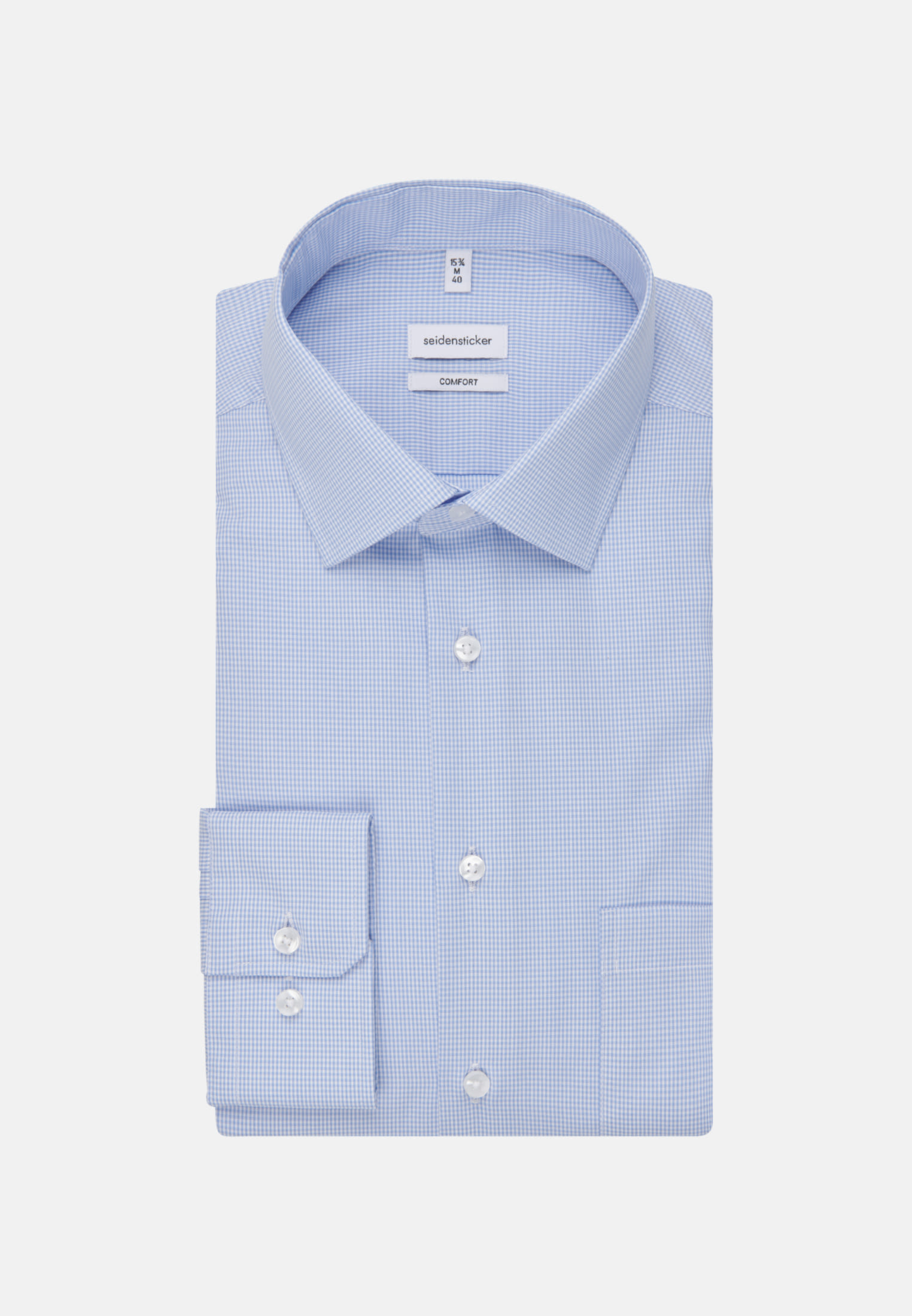 Bügelfreies Popeline Business Hemd in Comfort mit Kentkragen in Hellblau    Seidensticker Onlineshop