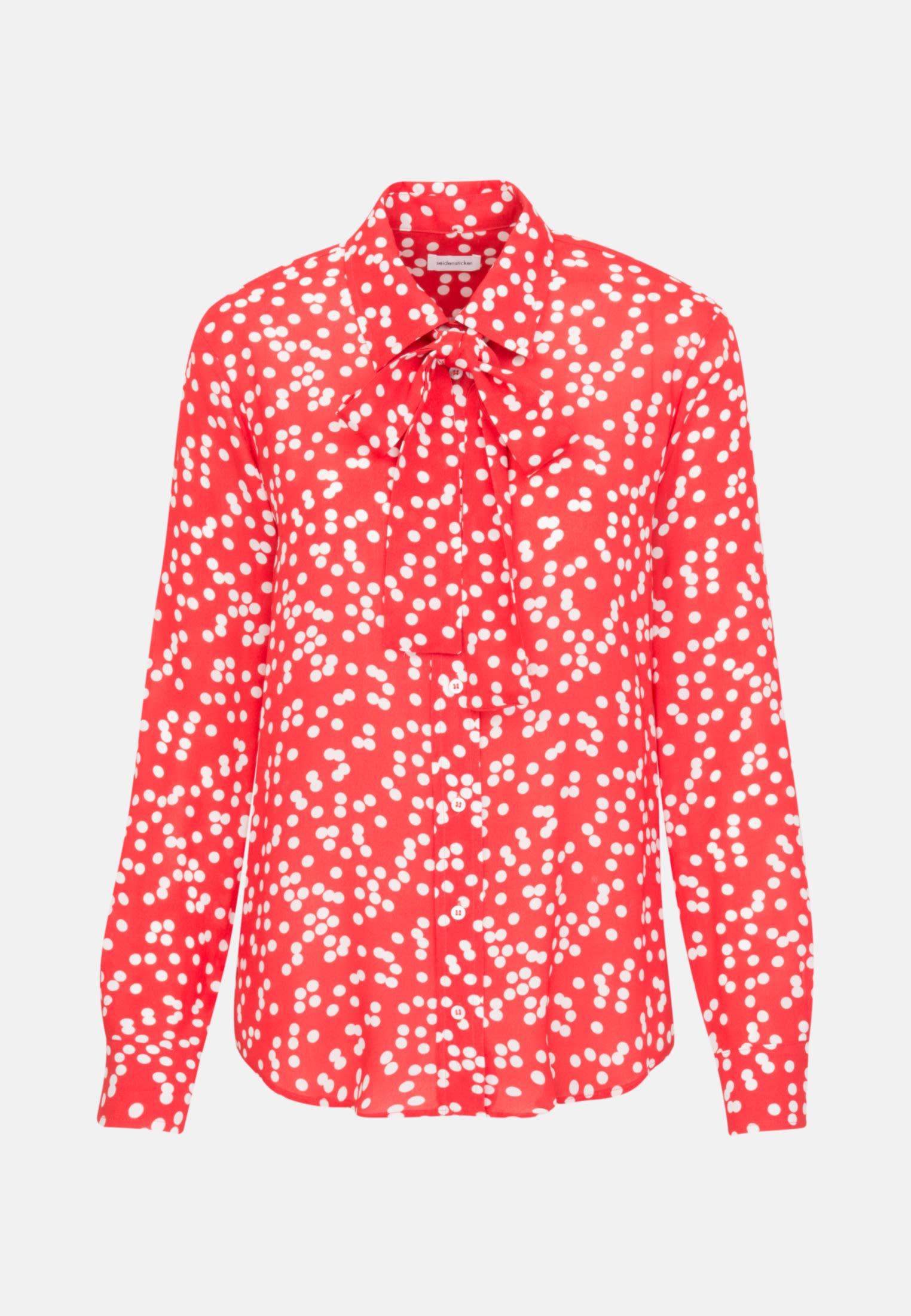 Krepp Hemdbluse aus 100% Viskose in Rot    Seidensticker Onlineshop