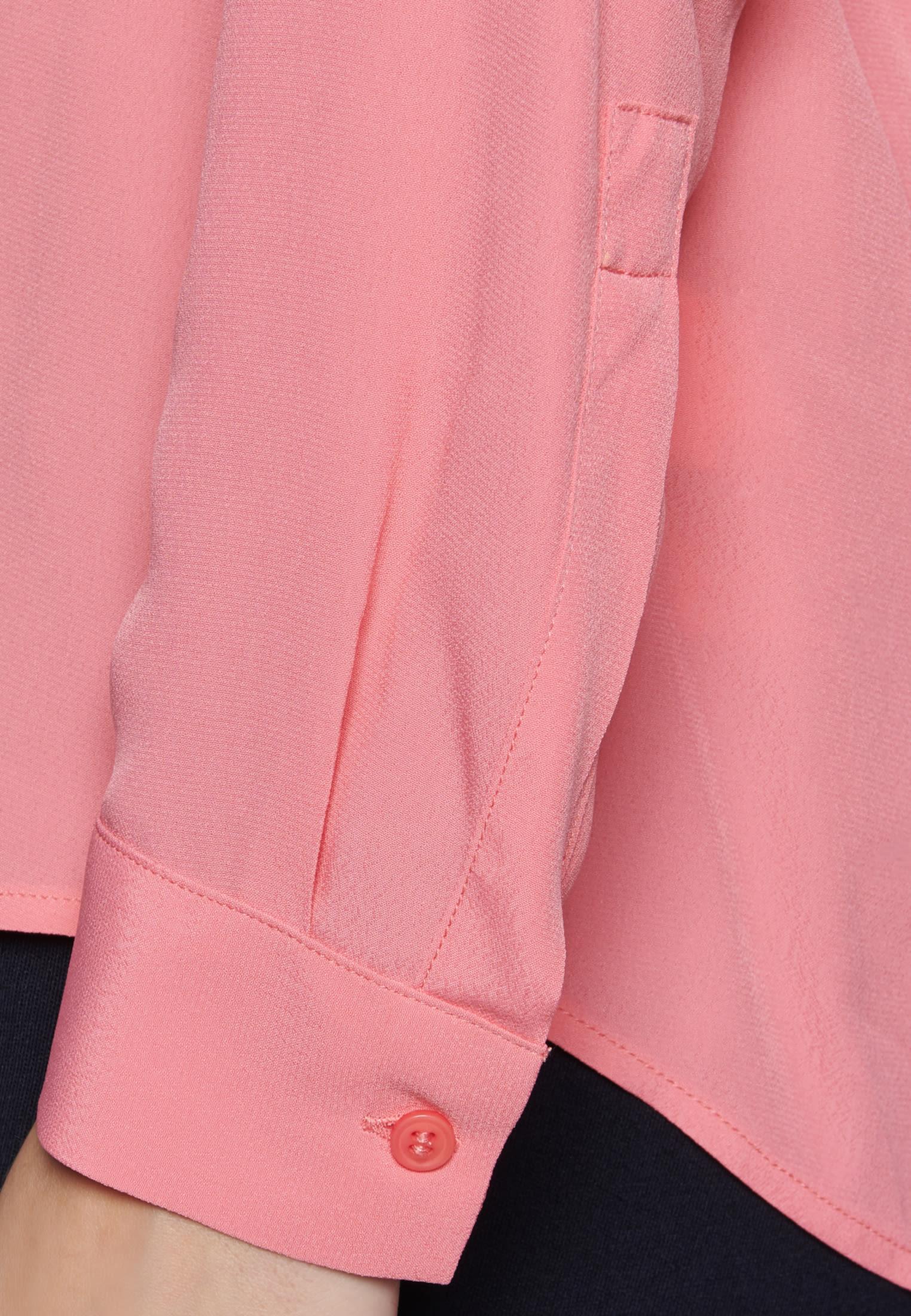 Twill Schlupfbluse aus 100% Viskose in Rosa/Pink |  Seidensticker Onlineshop