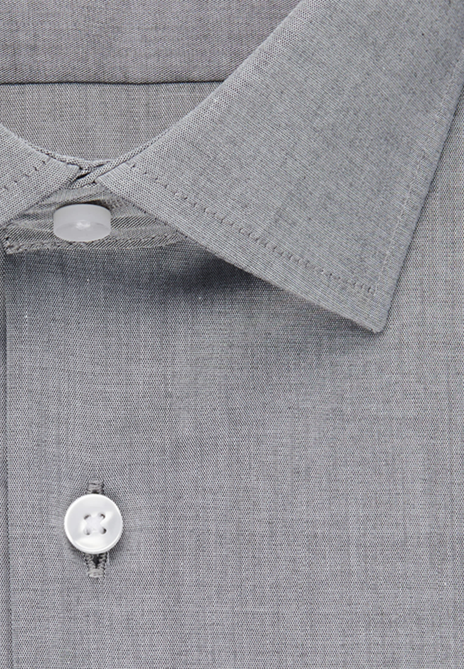 Bügelfreies Chambray Business Hemd in Slim mit Kentkragen in Grau |  Seidensticker Onlineshop