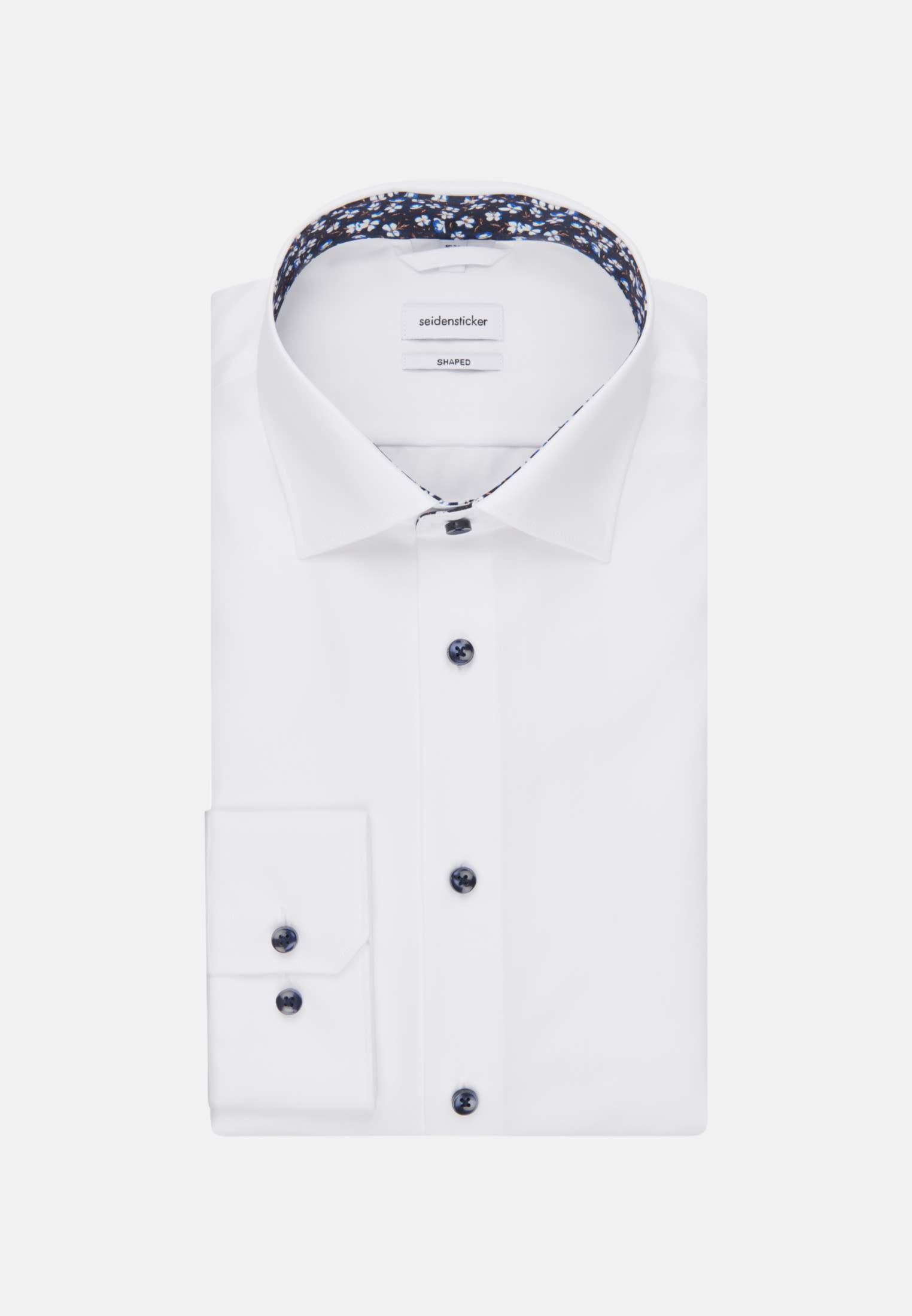 SEIDENSTICKER Businesshemd Tailored Weiß Kentkragen Passform