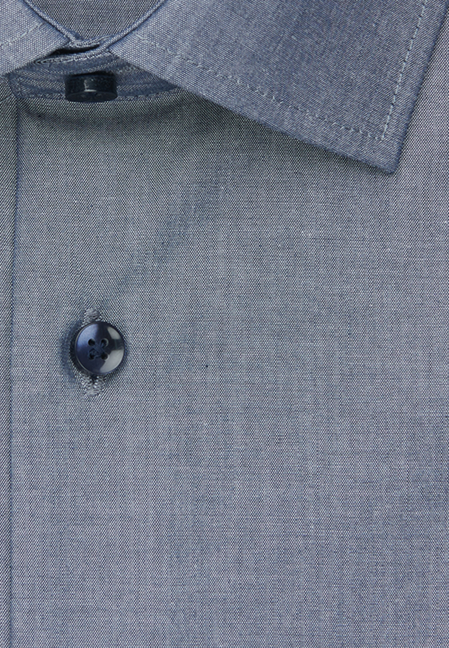 Bügelfreies Chambray Business Hemd in Comfort mit Kentkragen in Dunkelblau |  Seidensticker Onlineshop