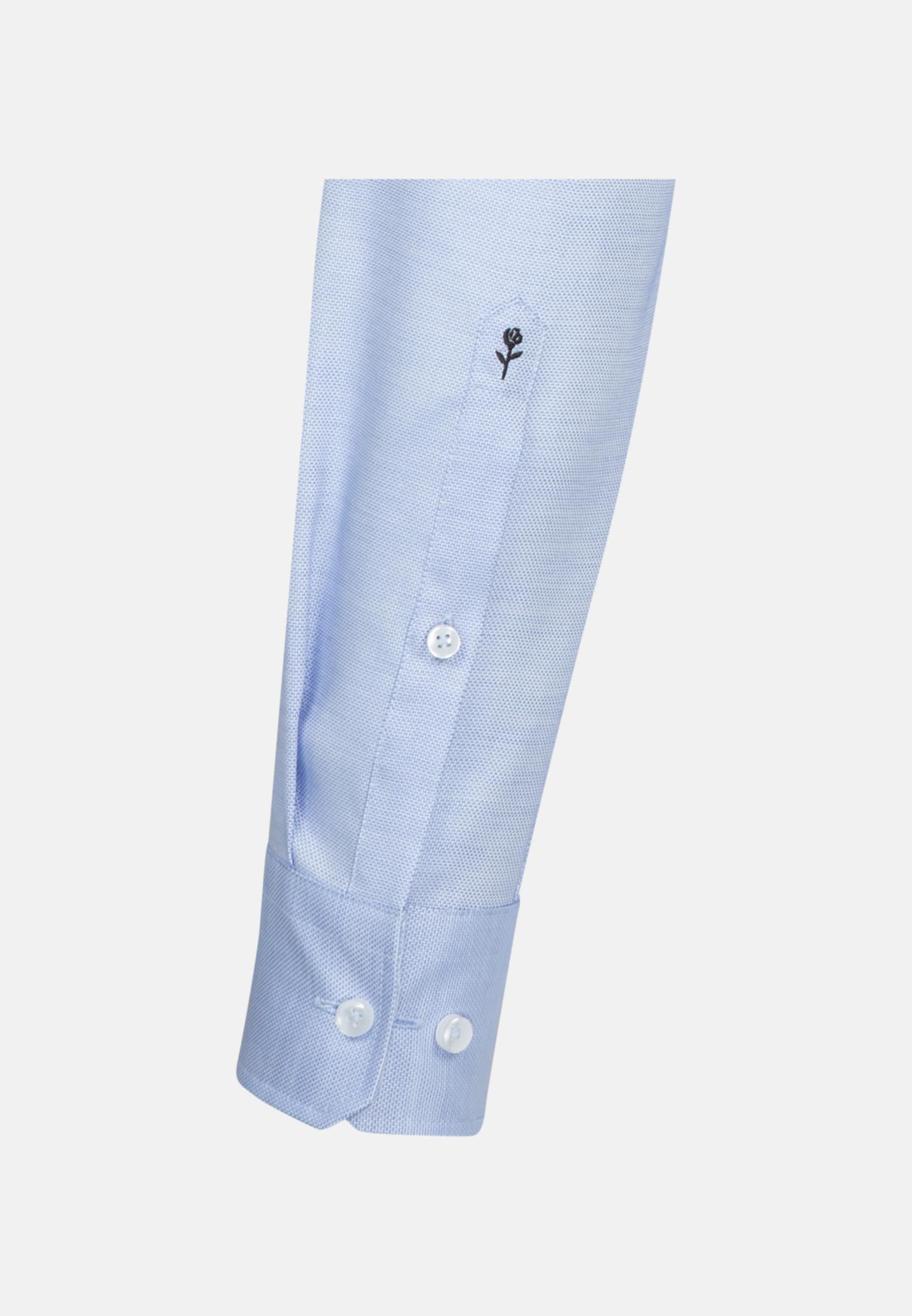 Non-iron Structure Business Shirt in X-Slim with Kent-Collar in Light blue |  Seidensticker Onlineshop