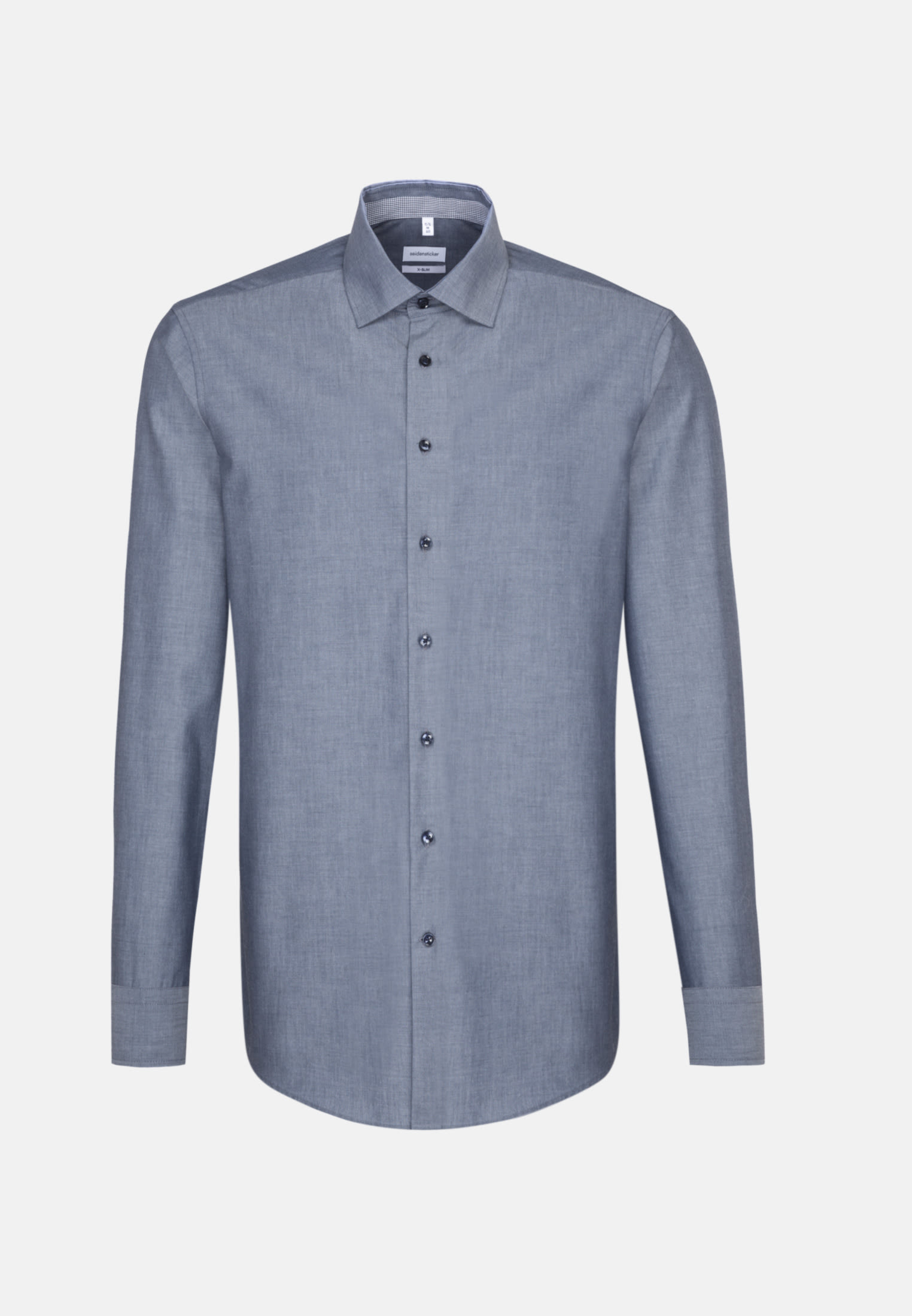 Non-iron Chambray Business Shirt in X-Slim with Kent-Collar in Dark blue |  Seidensticker Onlineshop
