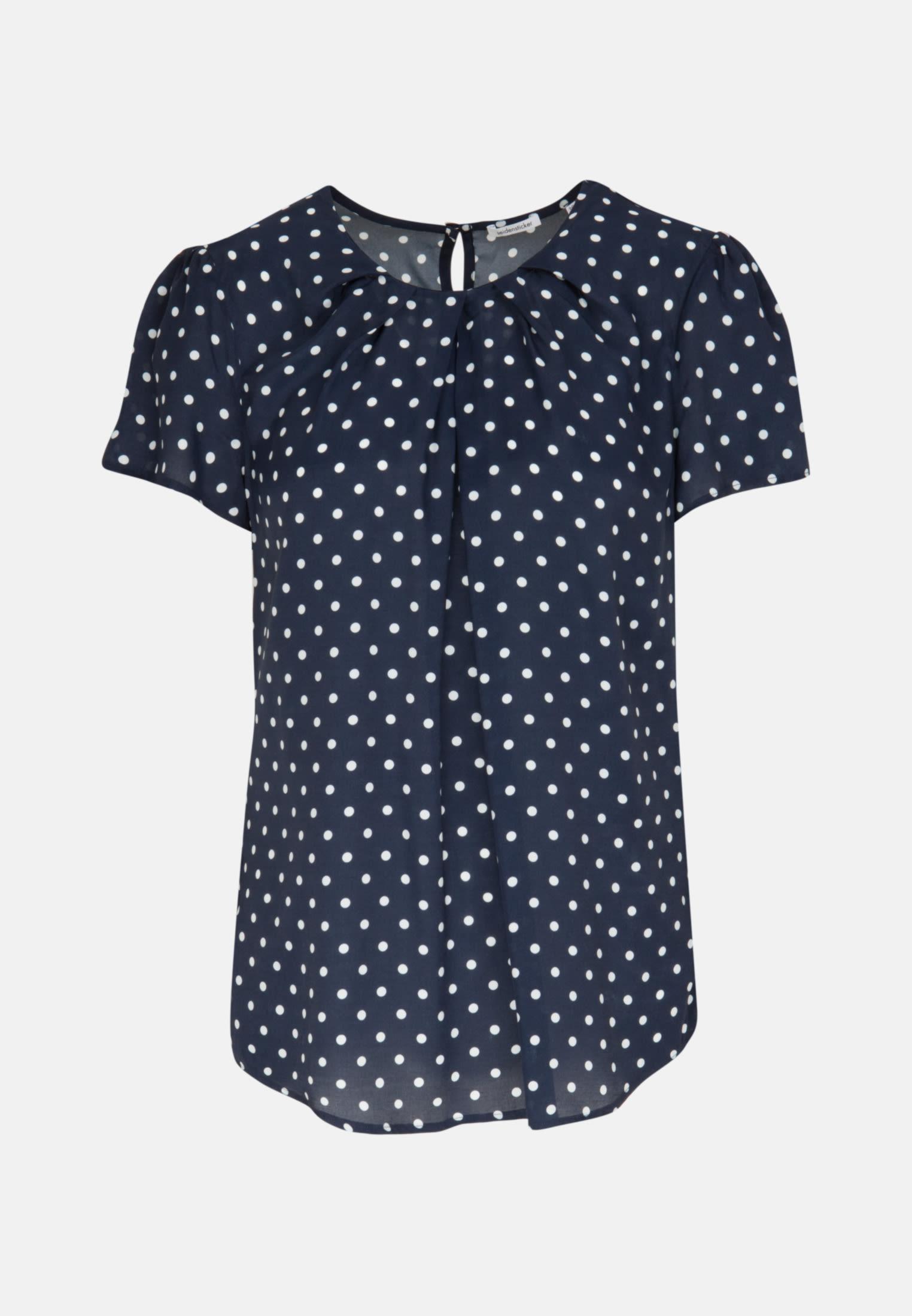 Short sleeve Voile Shirt Blouse made of 100% Viscose in Dark blue |  Seidensticker Onlineshop
