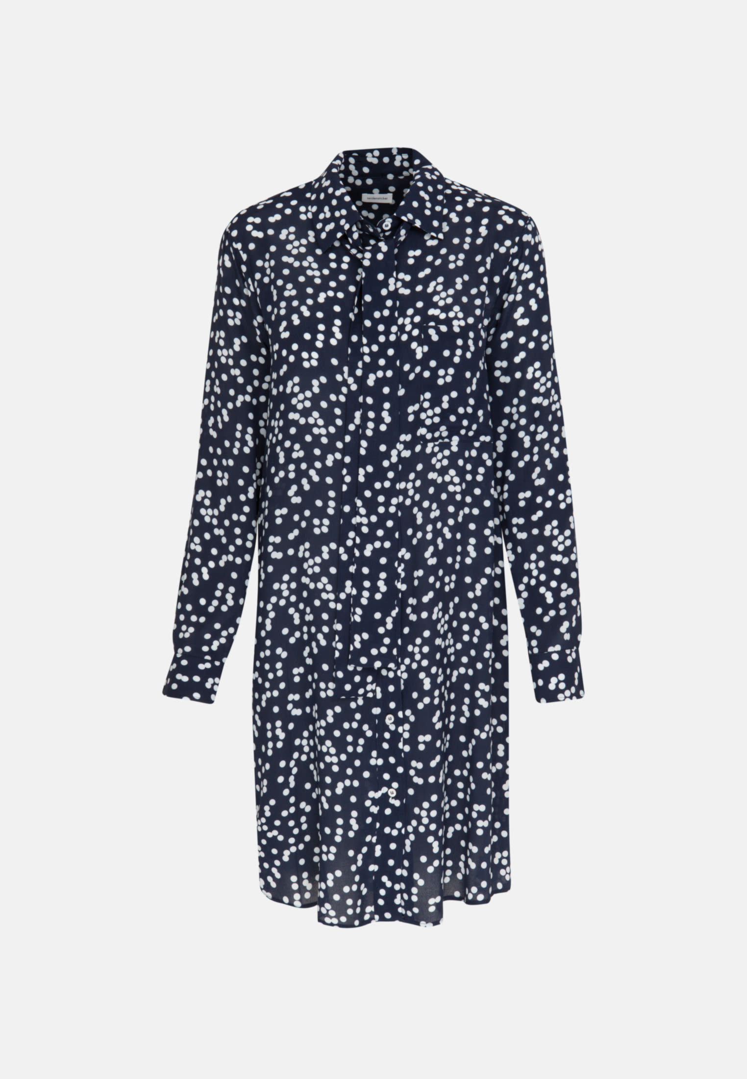 Crepe Midi Dress made of 100% Viscose in Dark blue |  Seidensticker Onlineshop