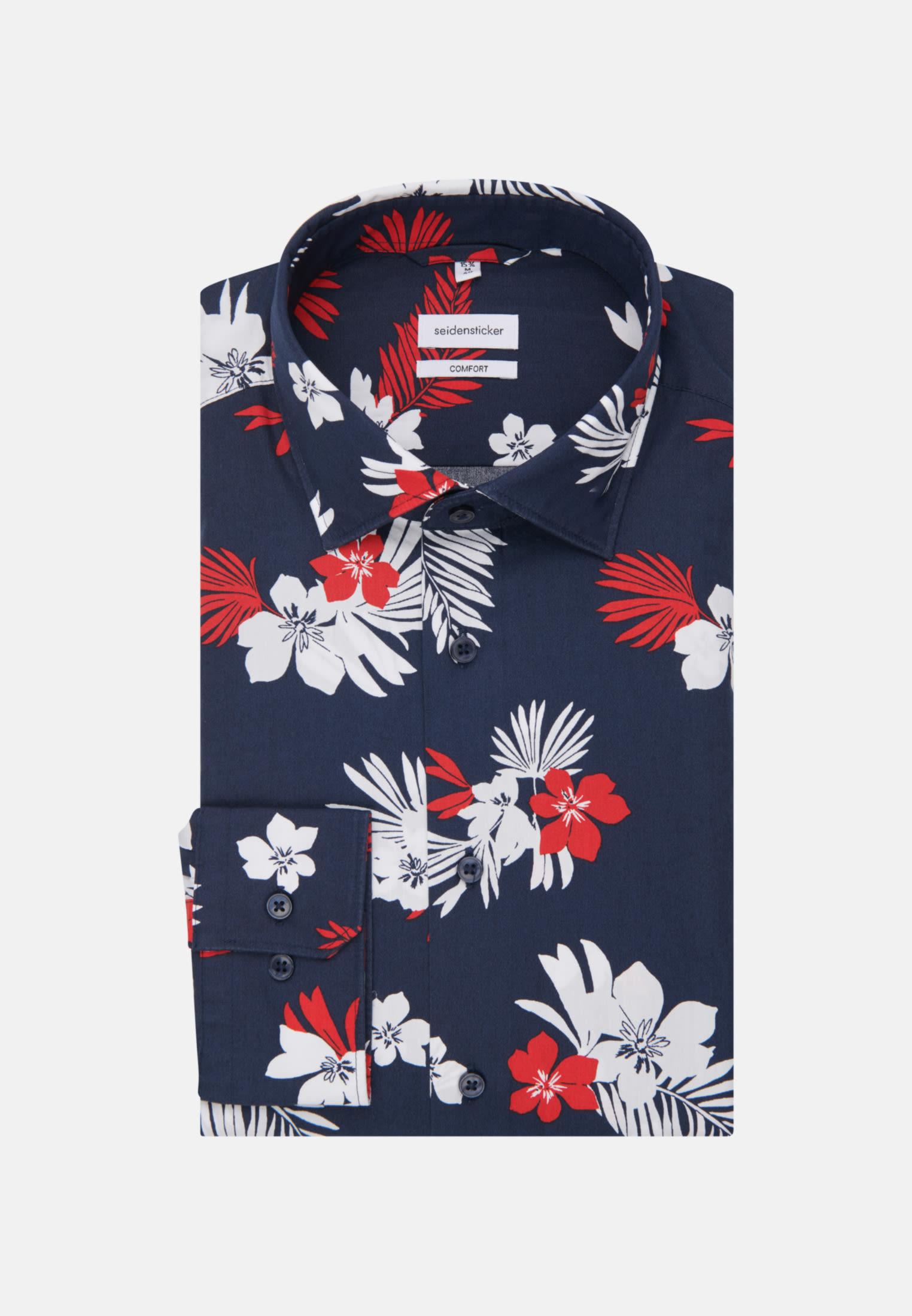 Bügelleichtes Popeline Business Hemd in Comfort mit Kentkragen in Rot |  Seidensticker Onlineshop