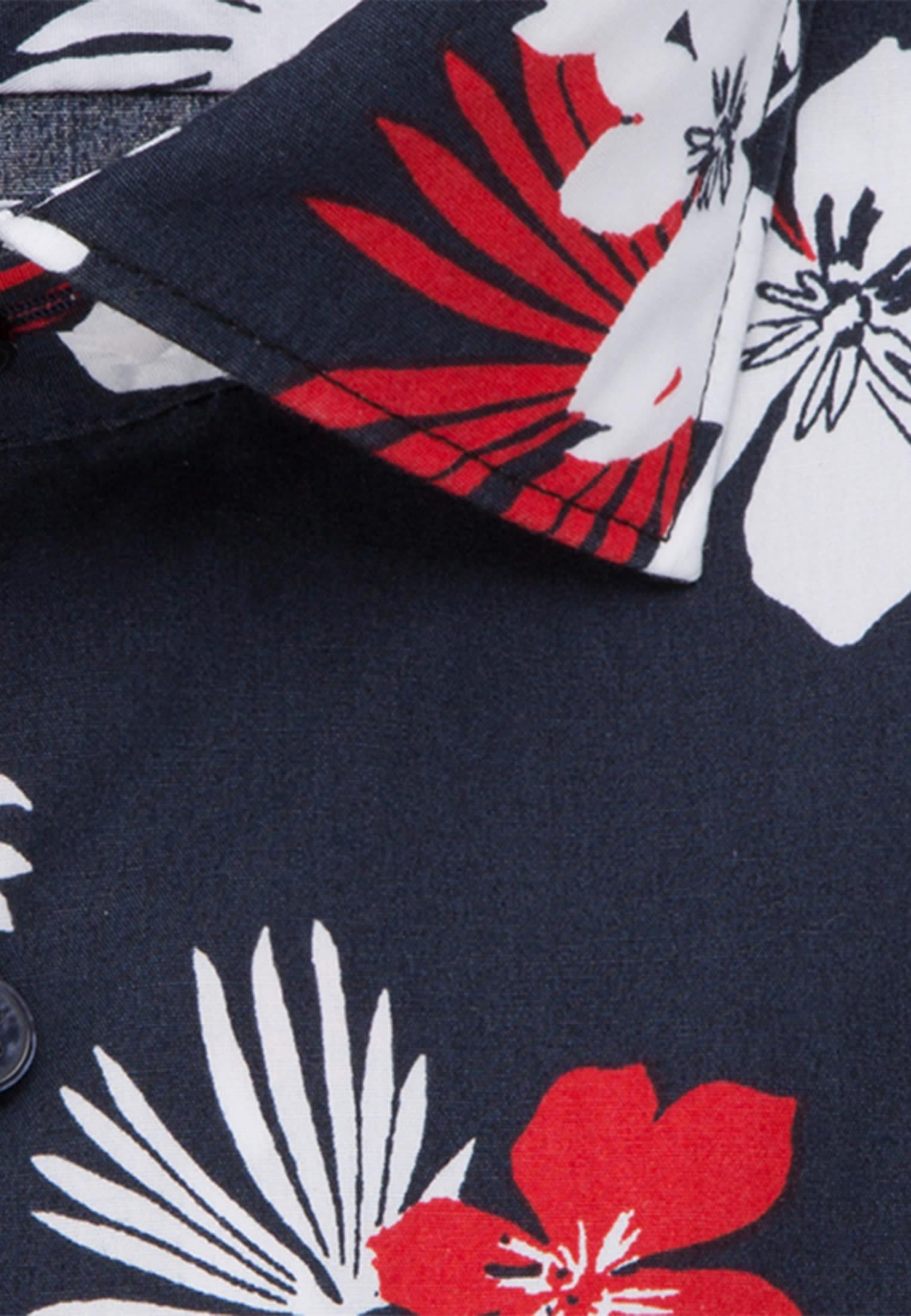 Easy-iron Poplin Business Shirt in X-Slim with Kent-Collar in Dark blue |  Seidensticker Onlineshop