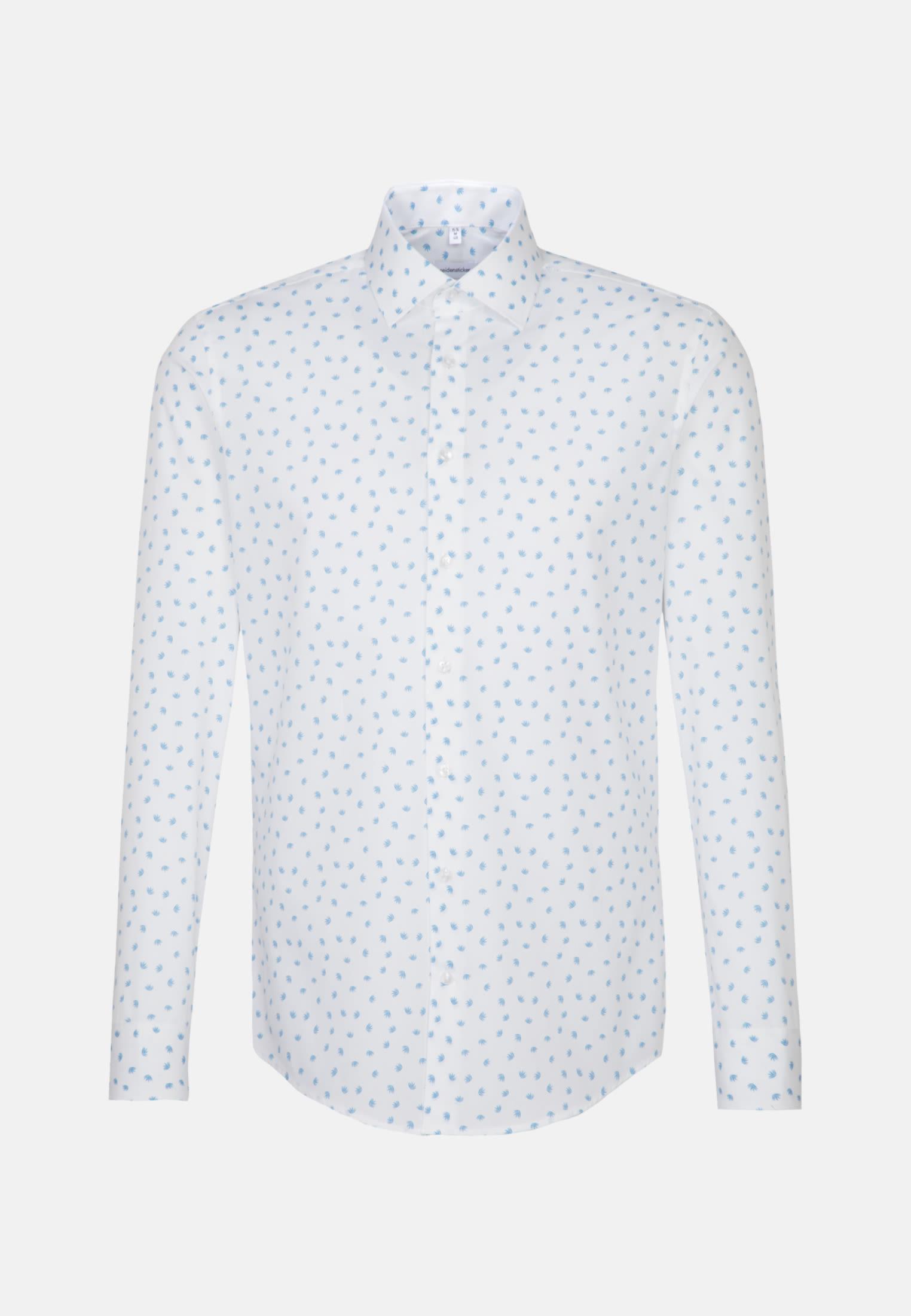 Bügelleichtes Popeline Business Hemd in Slim mit Kentkragen in Türkis/Petrol |  Seidensticker Onlineshop