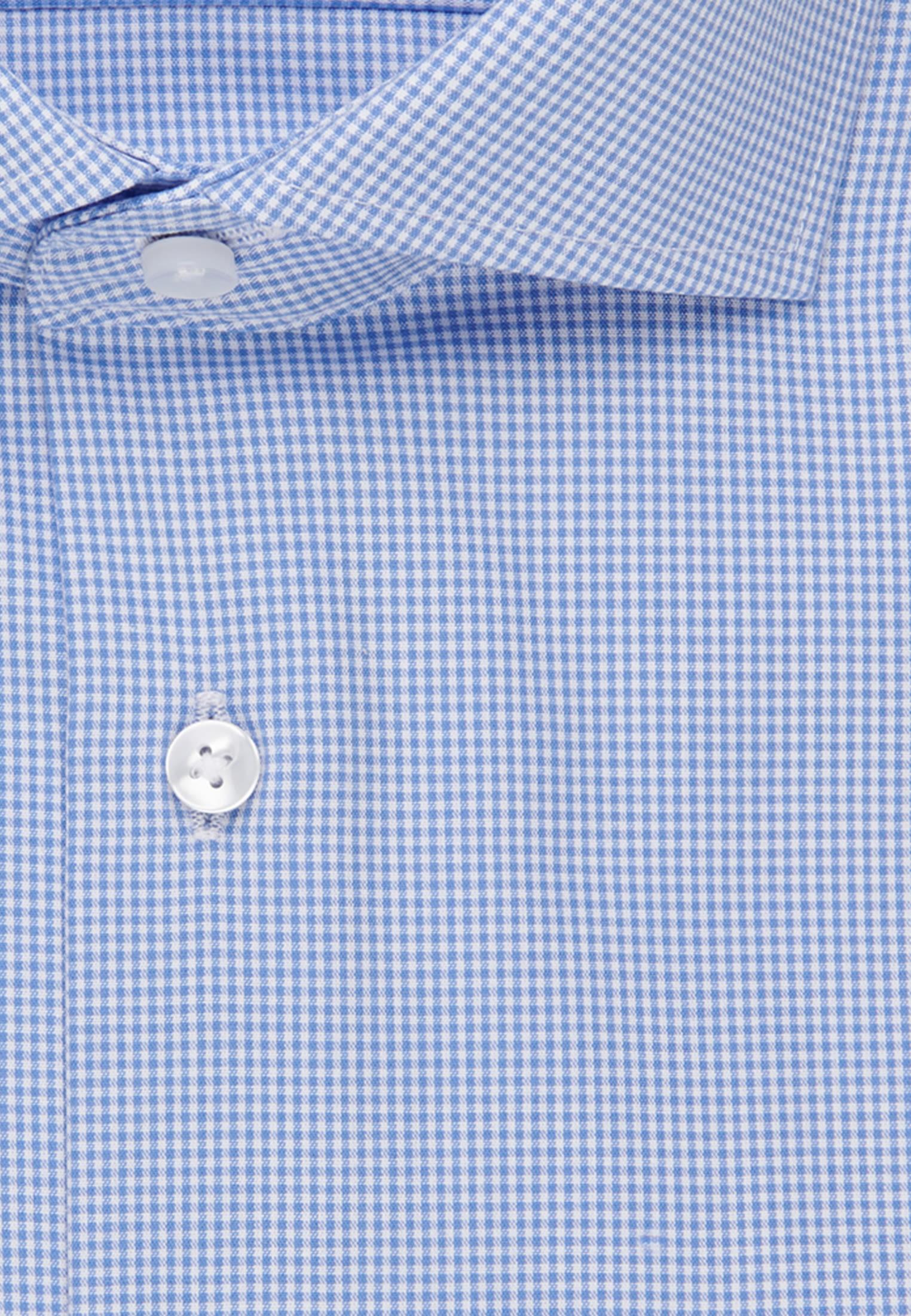 Non-iron Poplin Business Shirt in Comfort with Kent-Collar in Light blue |  Seidensticker Onlineshop