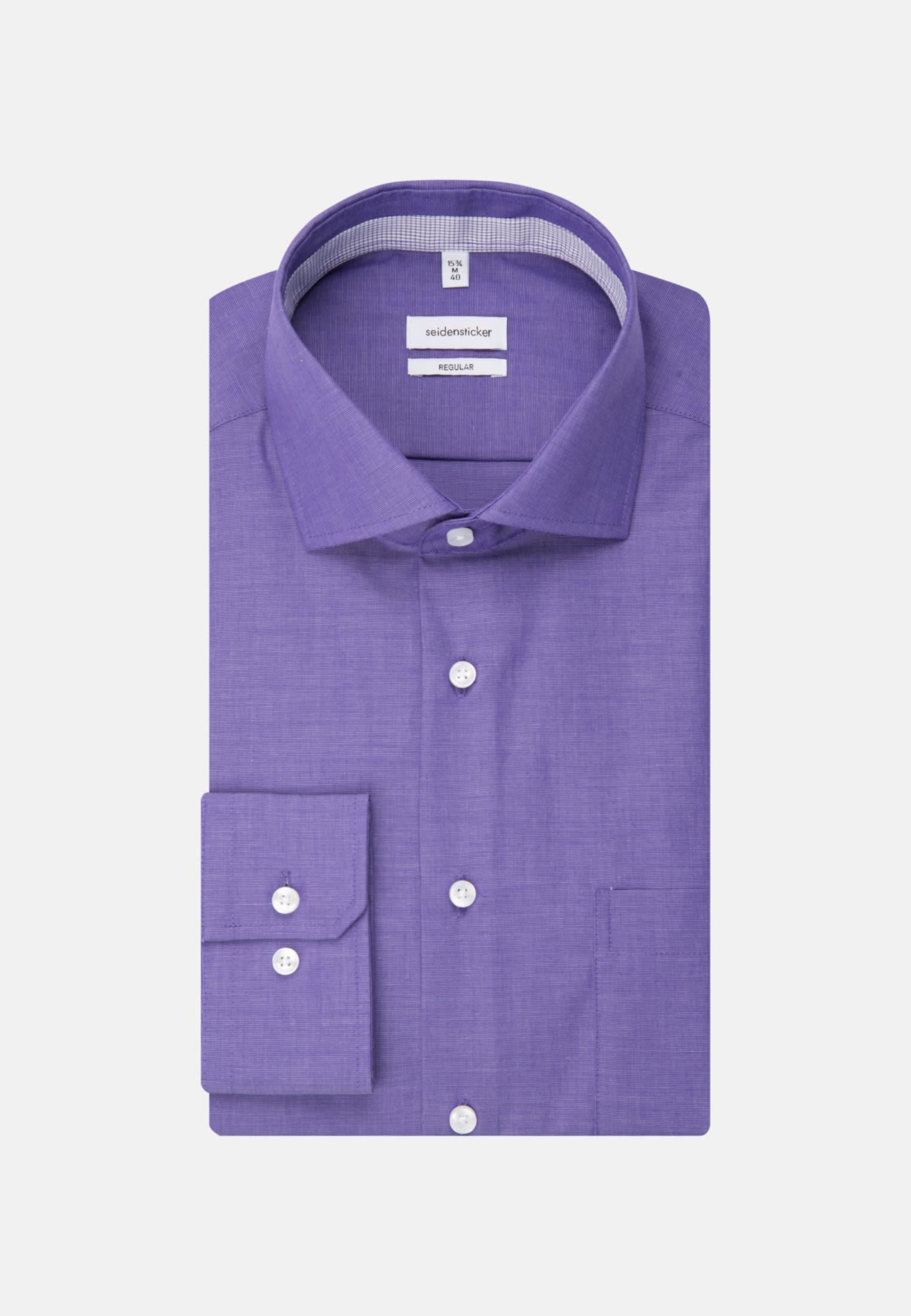 Non-iron Fil a fil Business Shirt in Regular with Kent-Collar in Purple |  Seidensticker Onlineshop