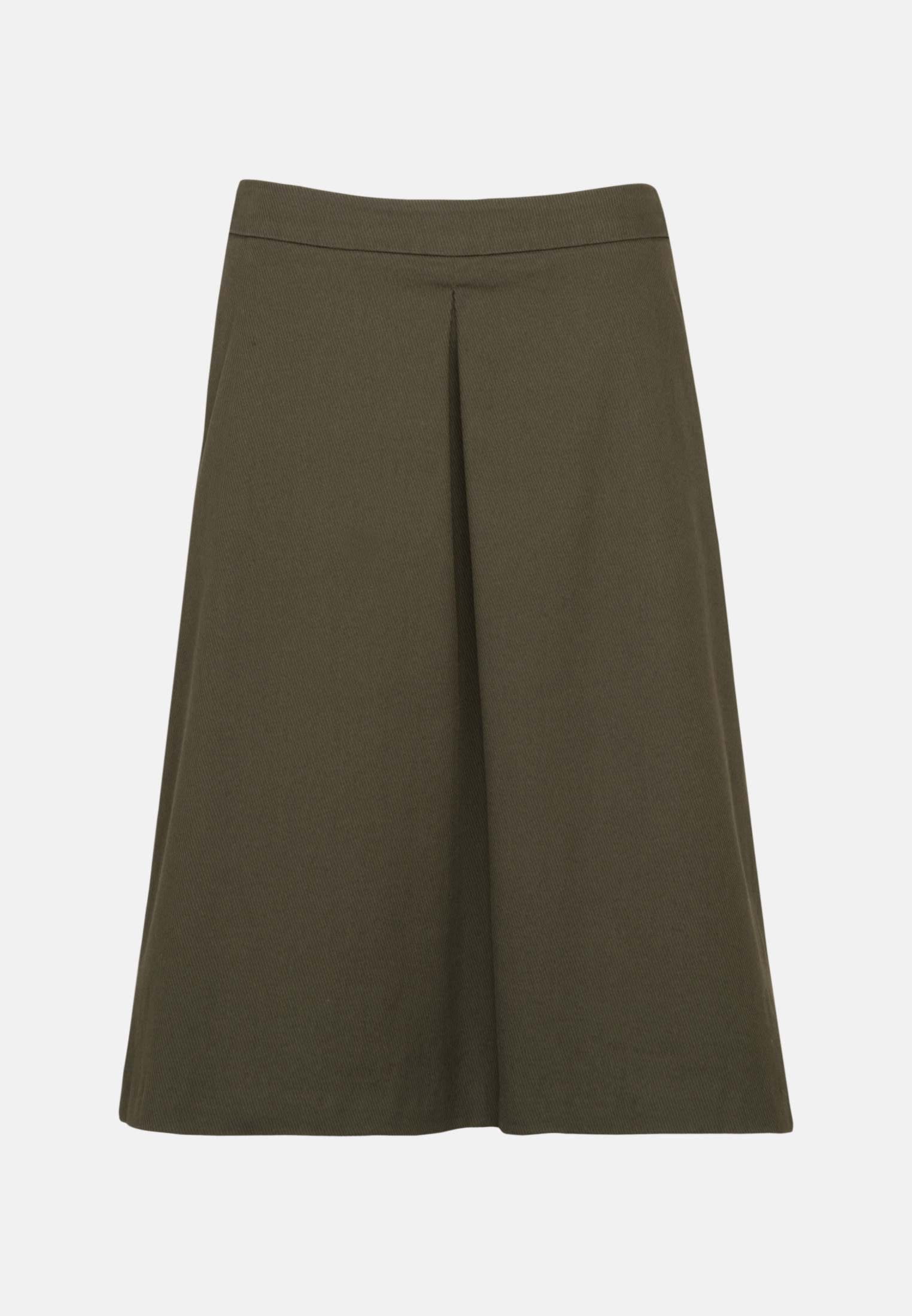 Twill Midi Skirt made of 100% Cotton in Green |  Seidensticker Onlineshop