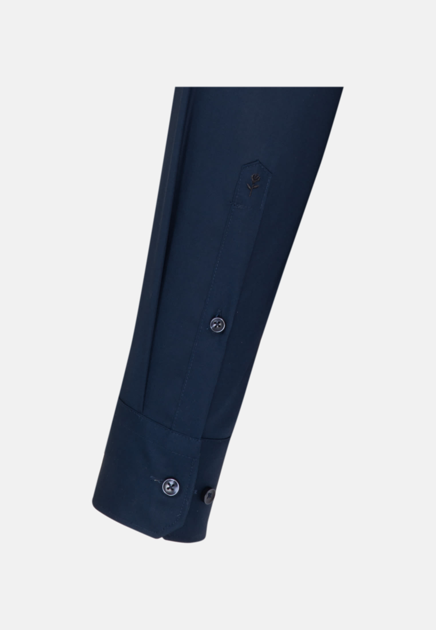 Bügelfreies Popeline Business Hemd in X-Slim mit Stehkragen in Dunkelblau    Seidensticker Onlineshop