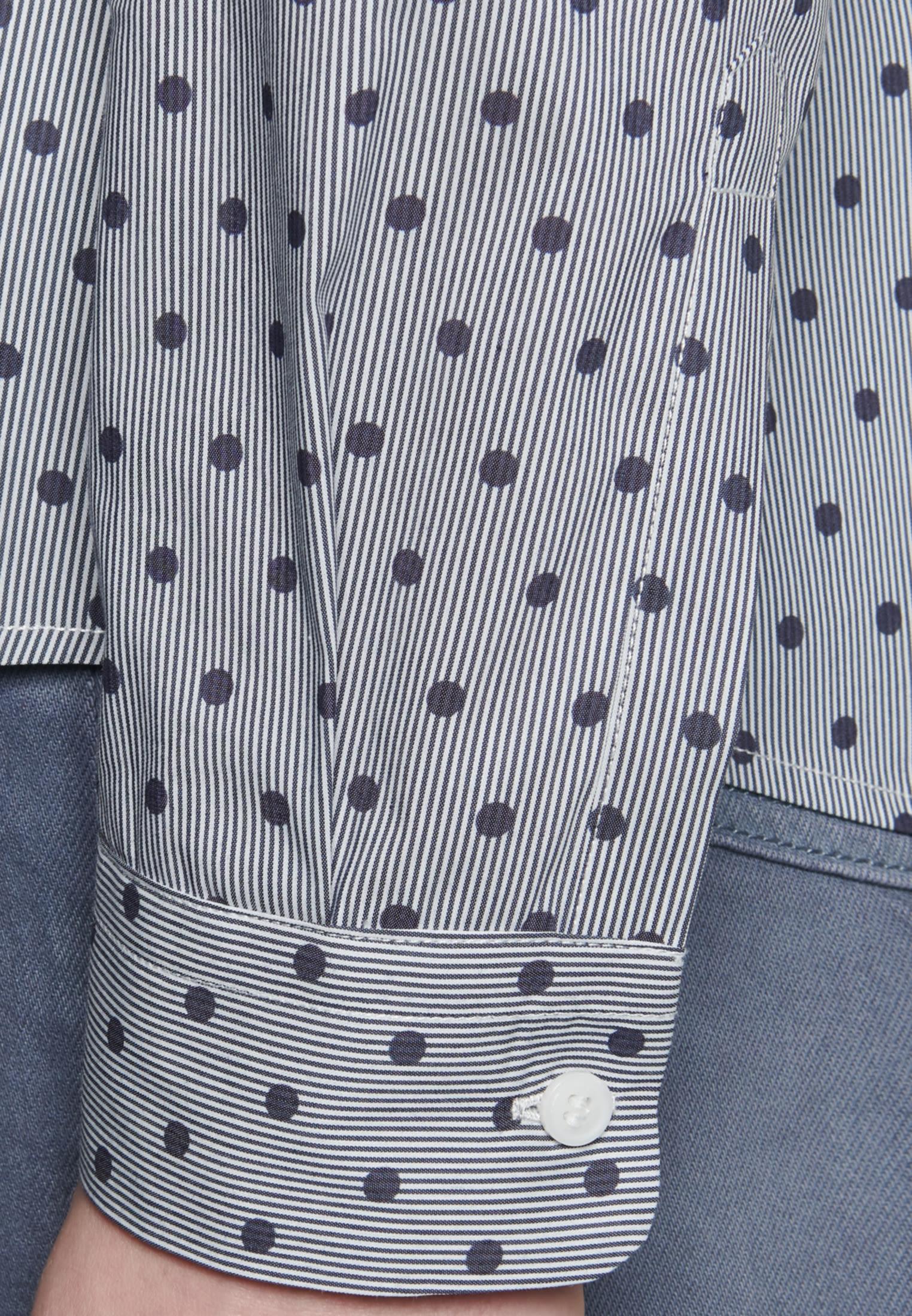 Satin Hemdbluse aus Baumwollmischung in Dunkelblau |  Seidensticker Onlineshop