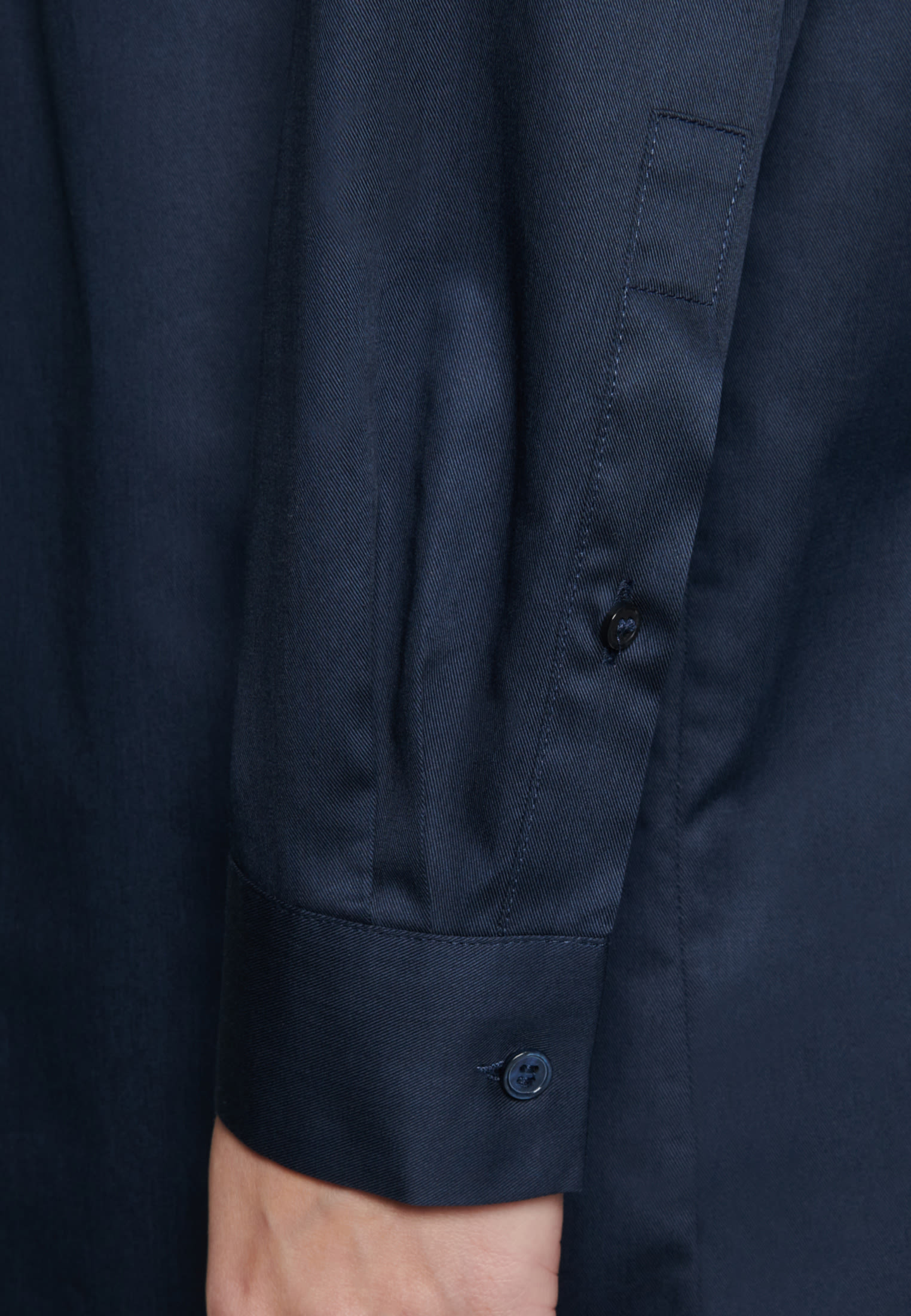 Twill Longbluse aus 100% Baumwolle in Dunkelblau    Seidensticker Onlineshop