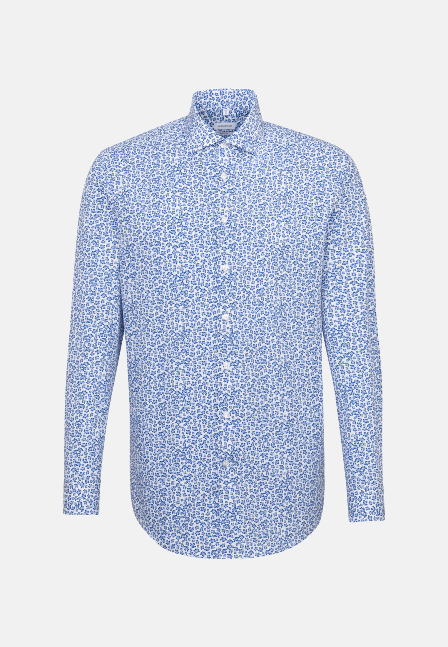 Easy-iron Poplin Business Shirt in Regular with Kent-Collar in Medium blue |  Seidensticker Onlineshop