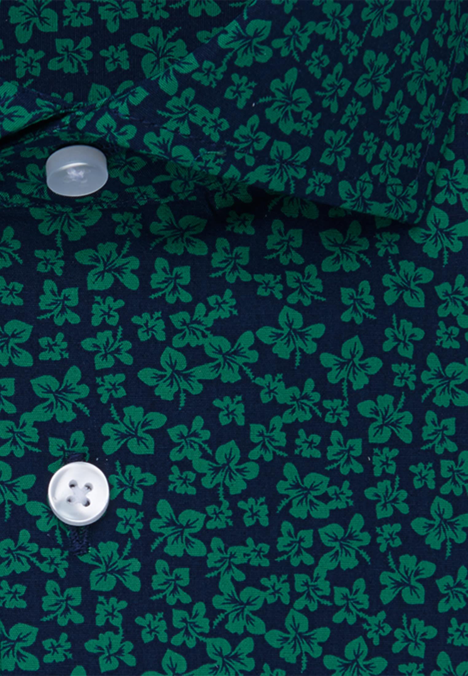 Bügelleichtes Popeline Business Hemd in Regular mit Kentkragen in Grün |  Seidensticker Onlineshop