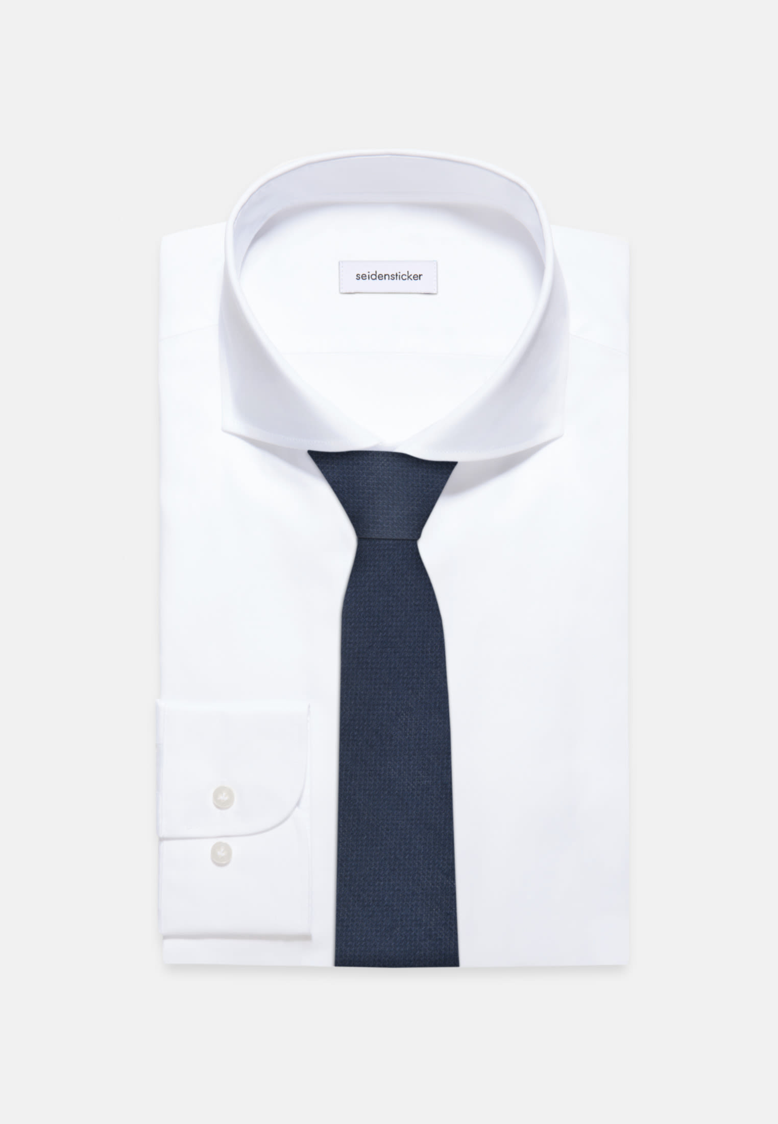 Tie made of 100% Linen 7 cm wide in Dark blue |  Seidensticker Onlineshop