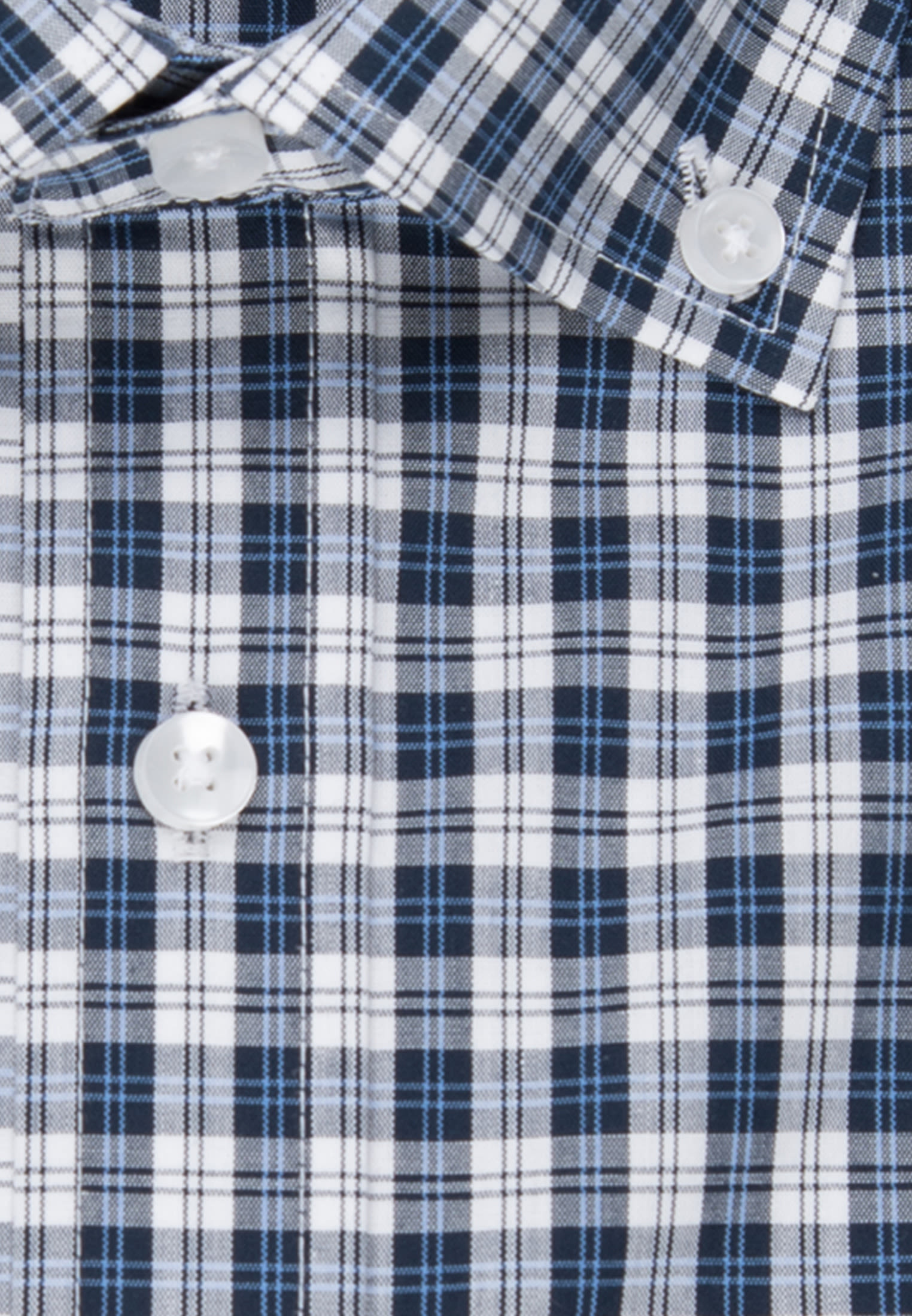 Bügelfreies Popeline Business Hemd in Shaped mit Button-Down-Kragen in Dunkelblau |  Seidensticker Onlineshop