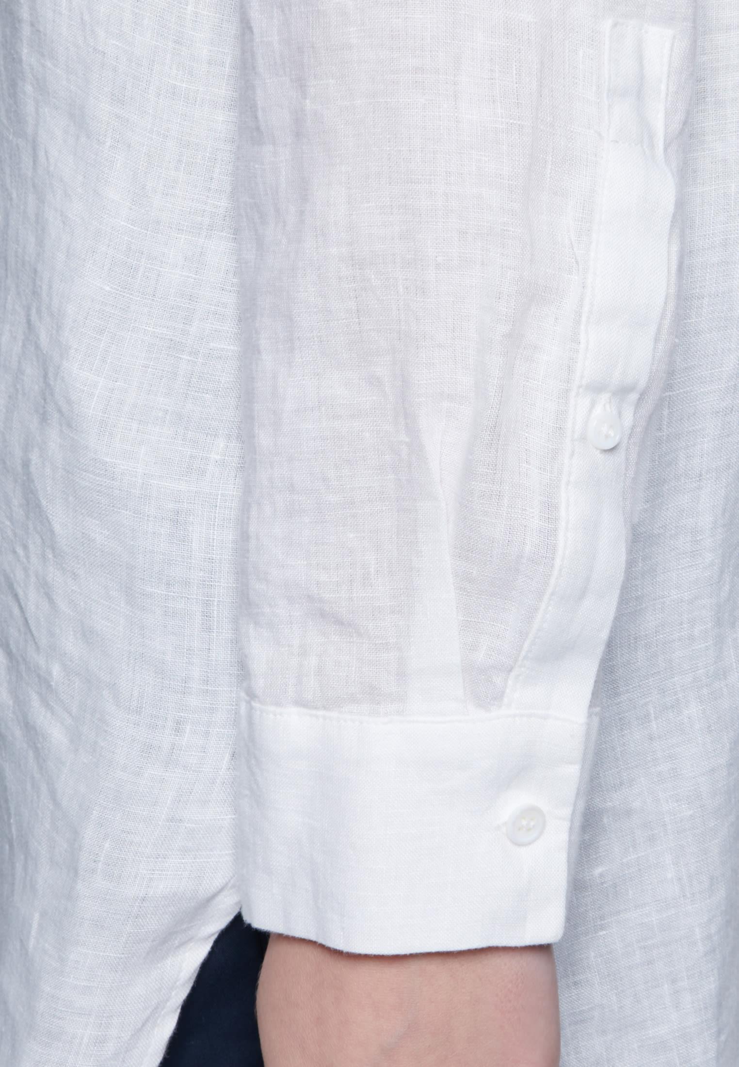 Leinen Longbluse aus 100% Leinen in Ecru |  Seidensticker Onlineshop