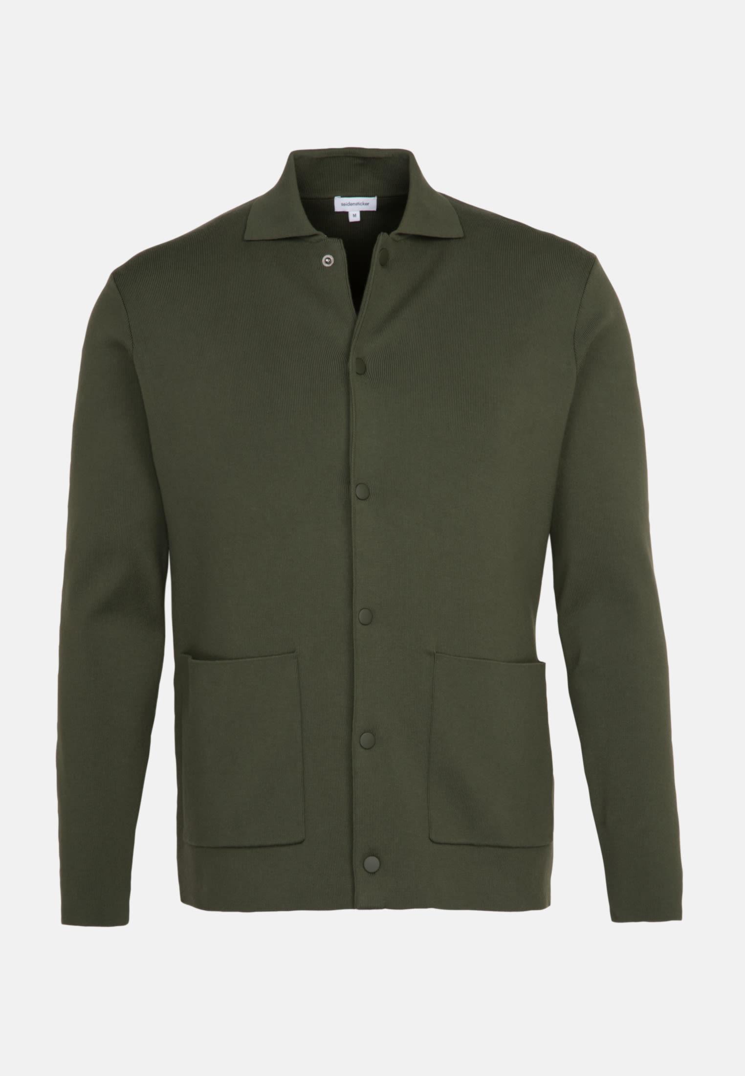 Kragen Cardigan aus 100% Baumwolle in Grün |  Seidensticker Onlineshop