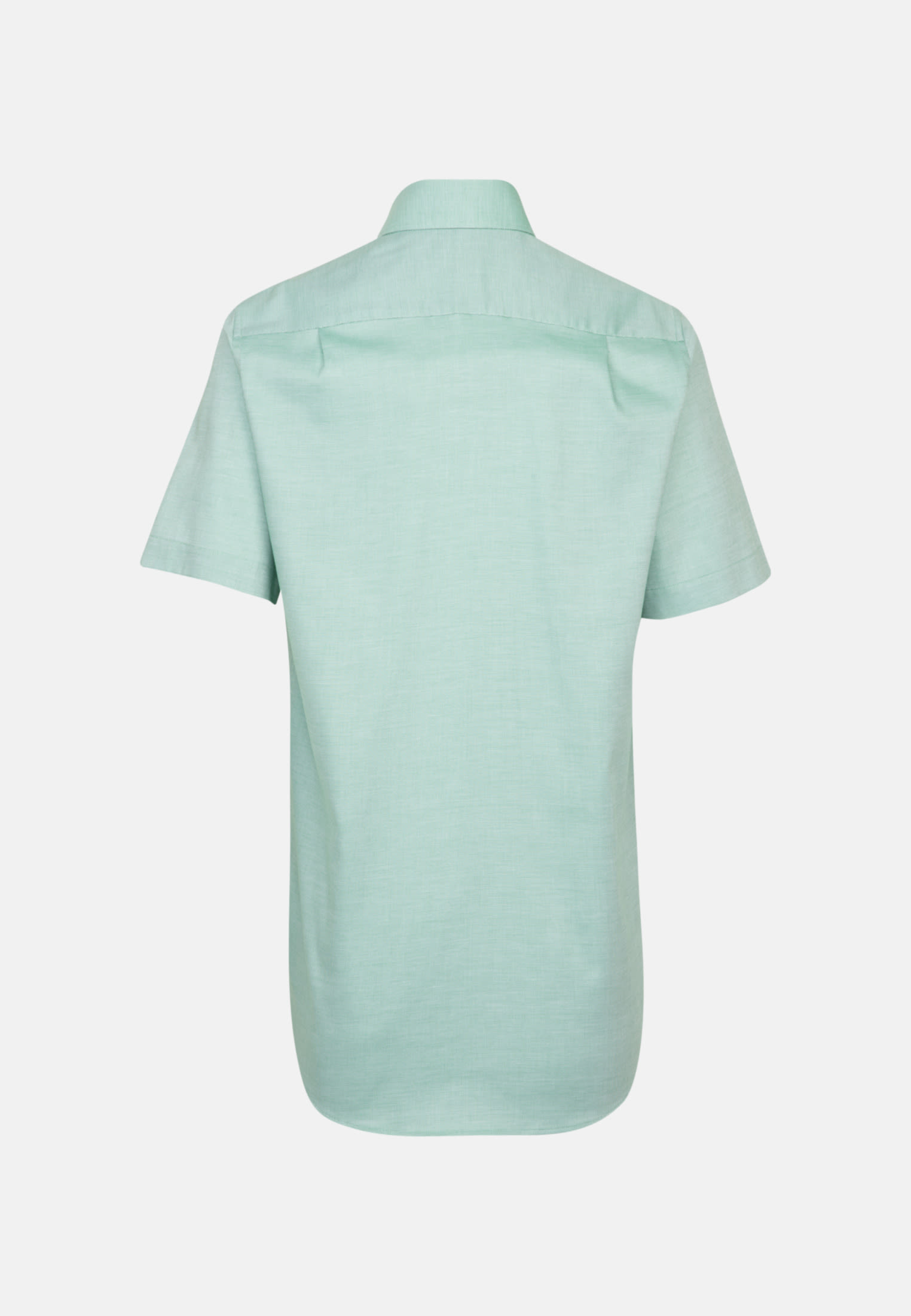 Non-iron Structure Short sleeve Business Shirt in Regular with Kent-Collar in Green |  Seidensticker Onlineshop