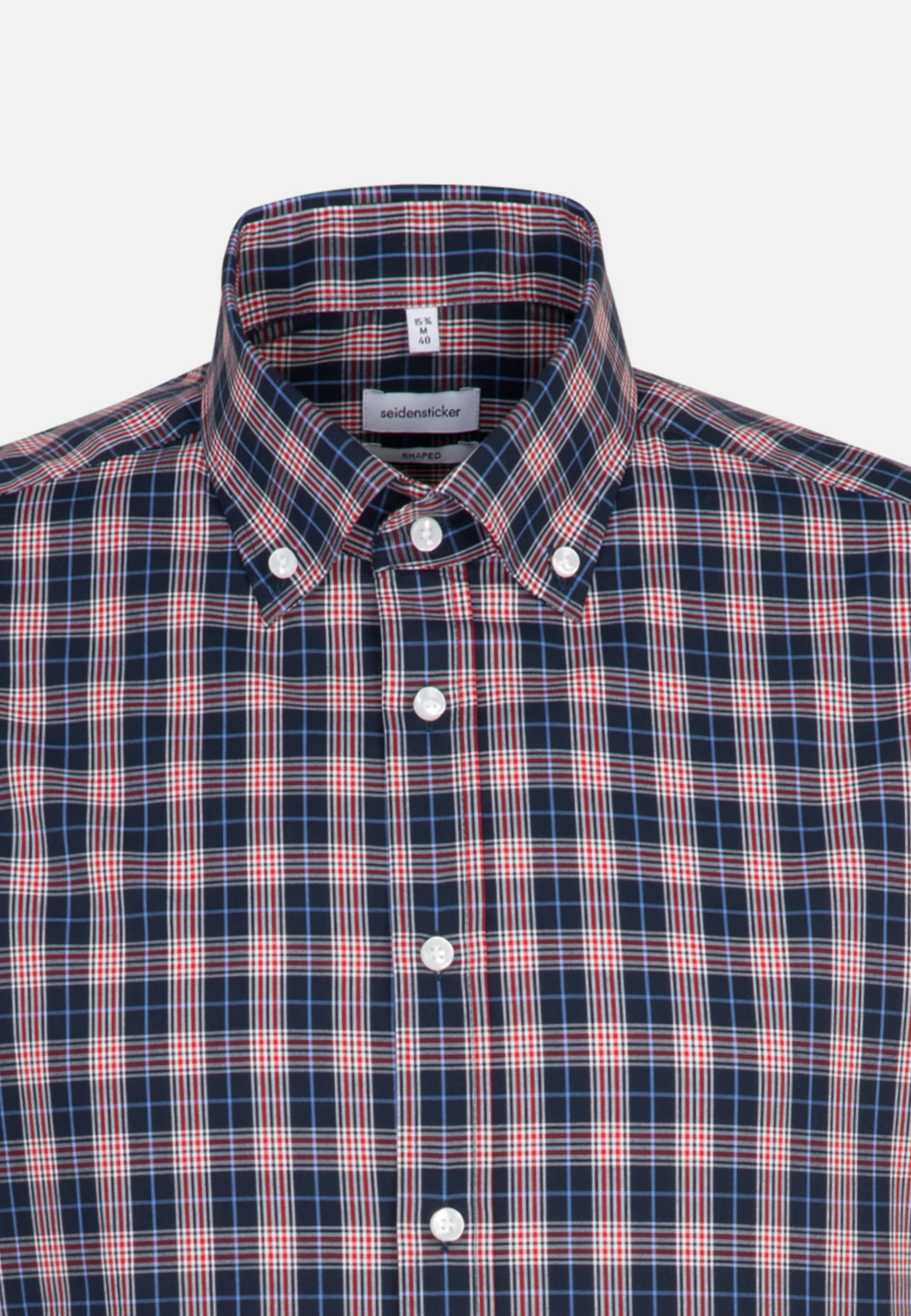 Non-iron Poplin Short sleeve Business Shirt in Shaped with Button-Down-Collar in Red |  Seidensticker Onlineshop