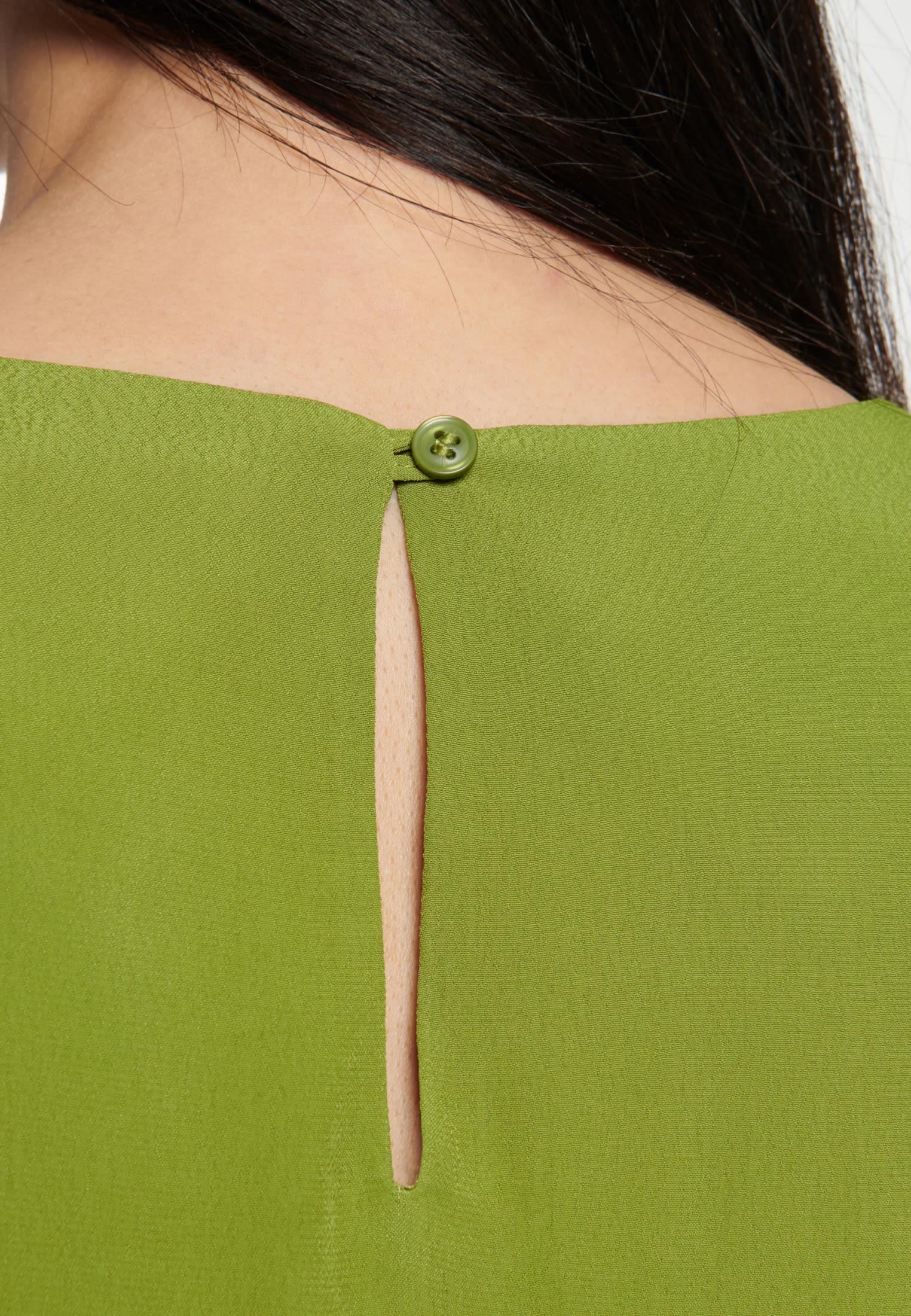 Kurzarm Popeline Shirtbluse aus 100% Viskose in Grün |  Seidensticker Onlineshop