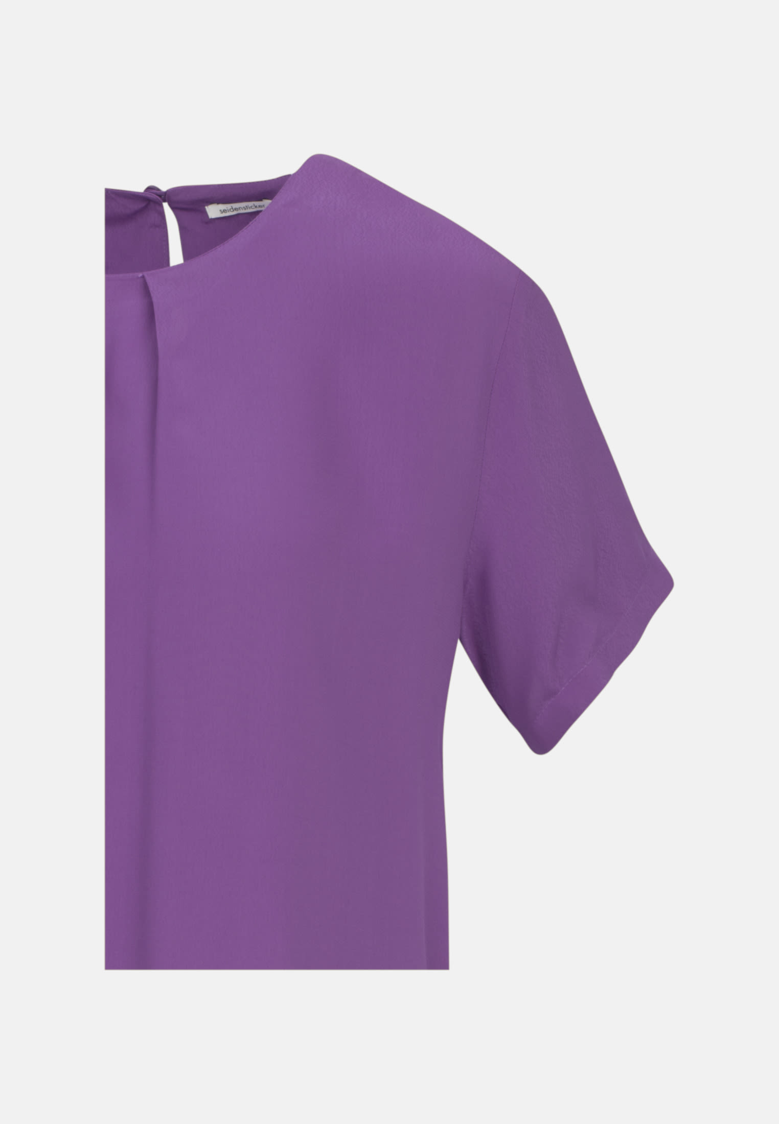 Kurzarm Popeline Shirtbluse aus 100% Viskose in Lila |  Seidensticker Onlineshop