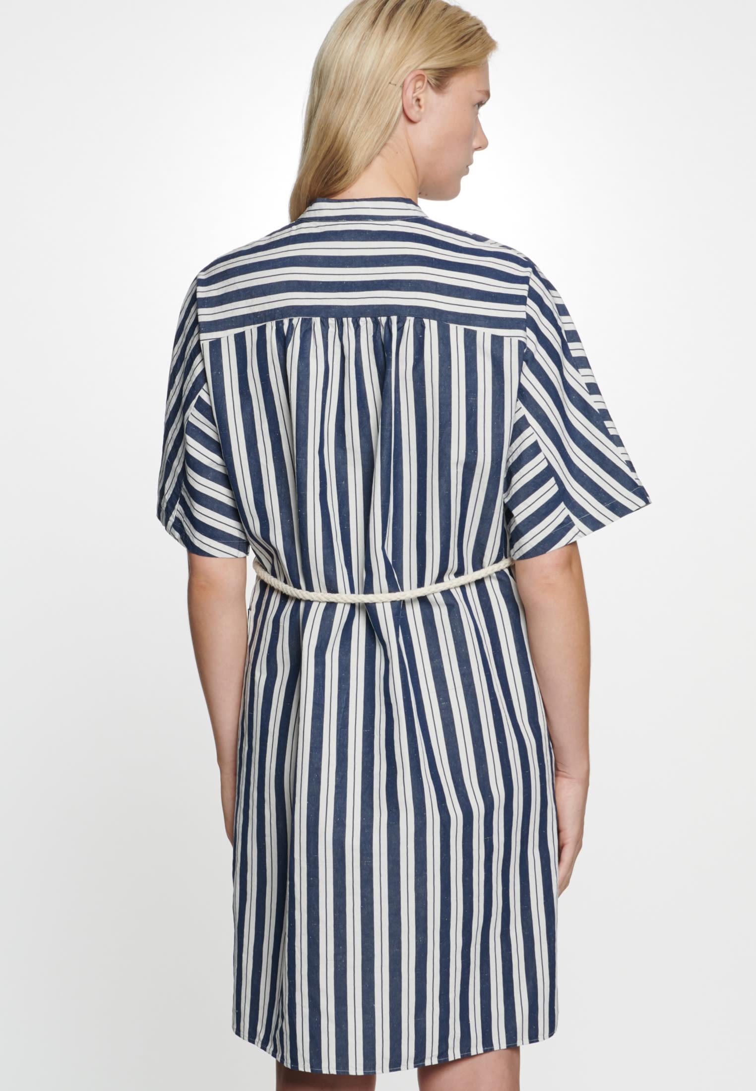 Midi Kleid aus Seiden-Leinenmischung in Dunkelblau |  Seidensticker Onlineshop