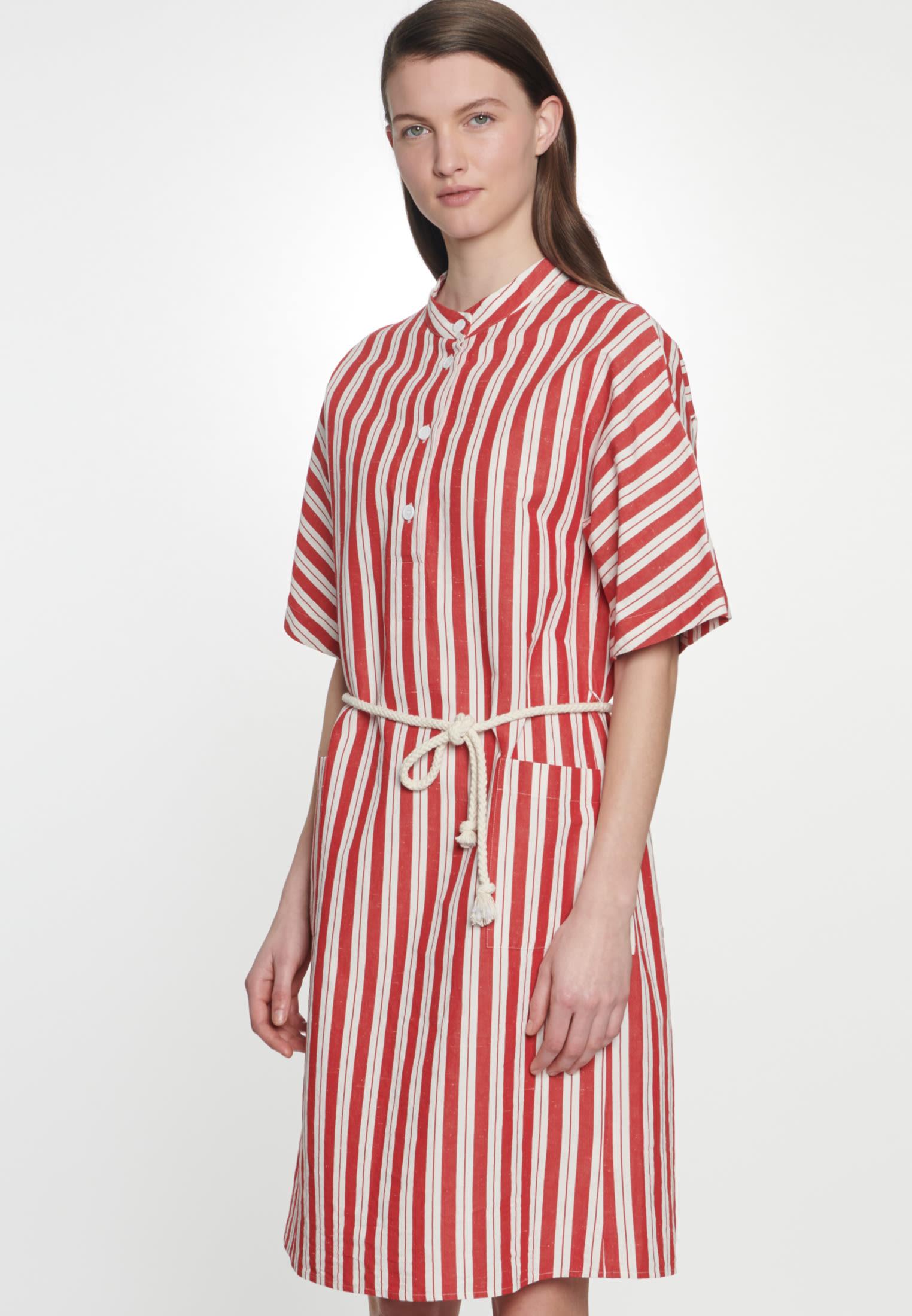 Midi Dress made of silk-linen blend in Red |  Seidensticker Onlineshop