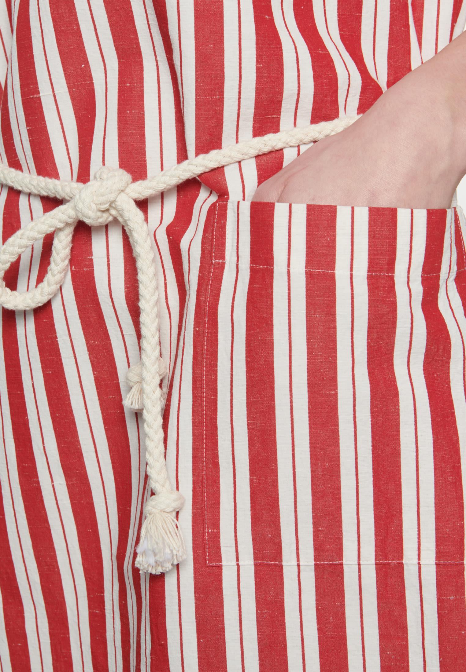 Midi Kleid aus Seiden-Leinenmischung in Rot |  Seidensticker Onlineshop