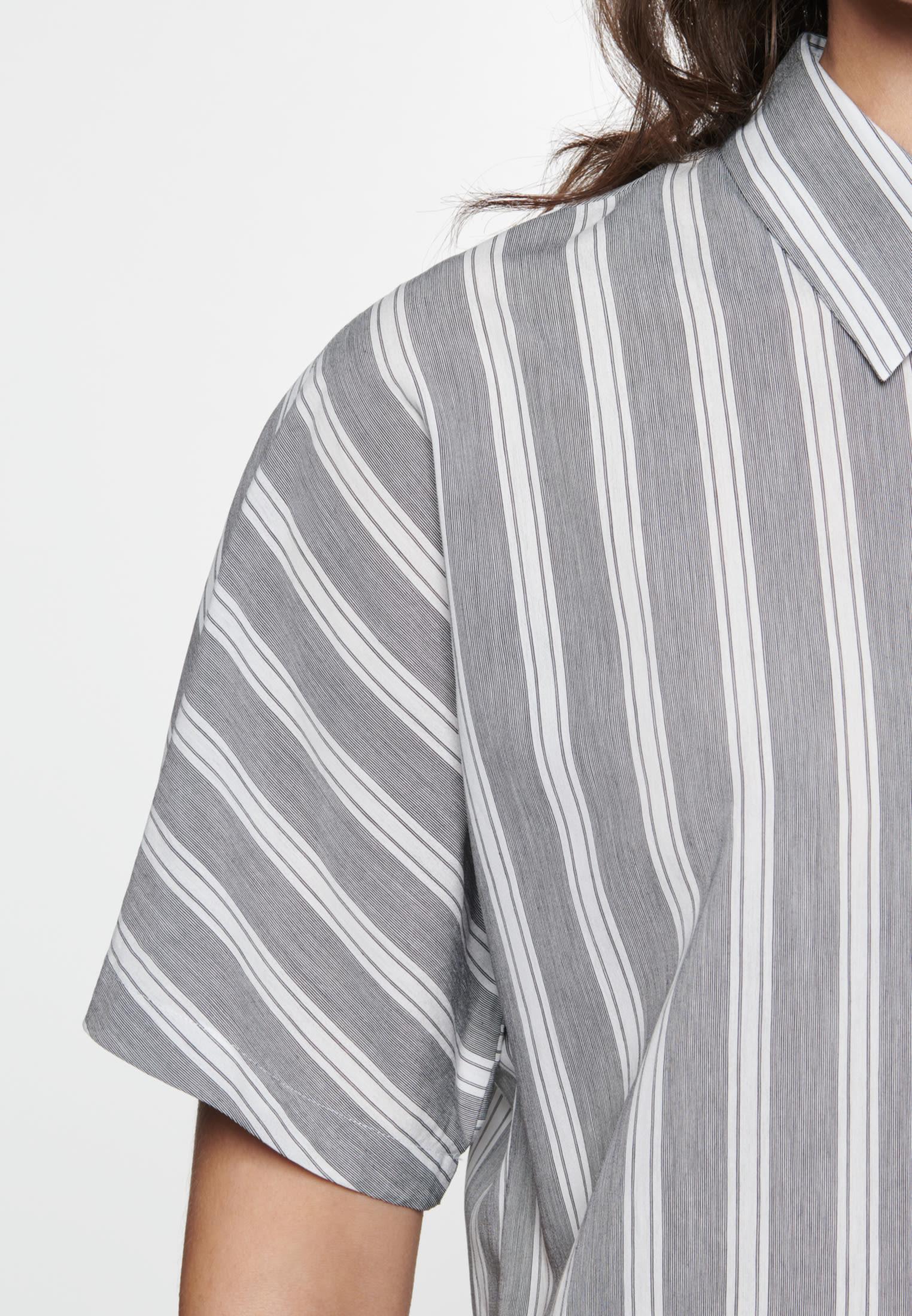 Poplin Midi Dress made of viscose blend in Grey |  Seidensticker Onlineshop
