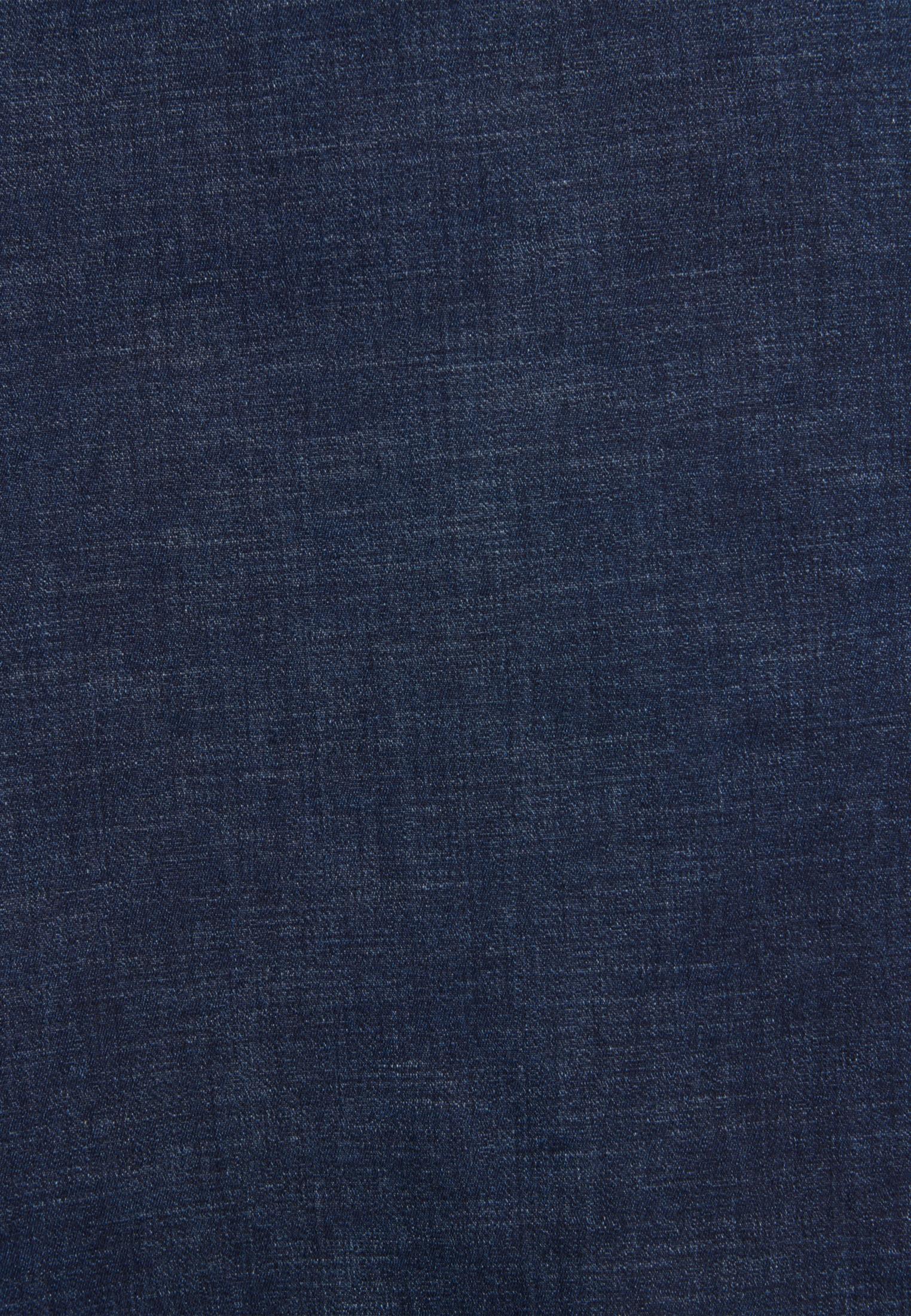 Denim Midi Rock aus Baumwollmischung in Dunkelblau    Seidensticker Onlineshop