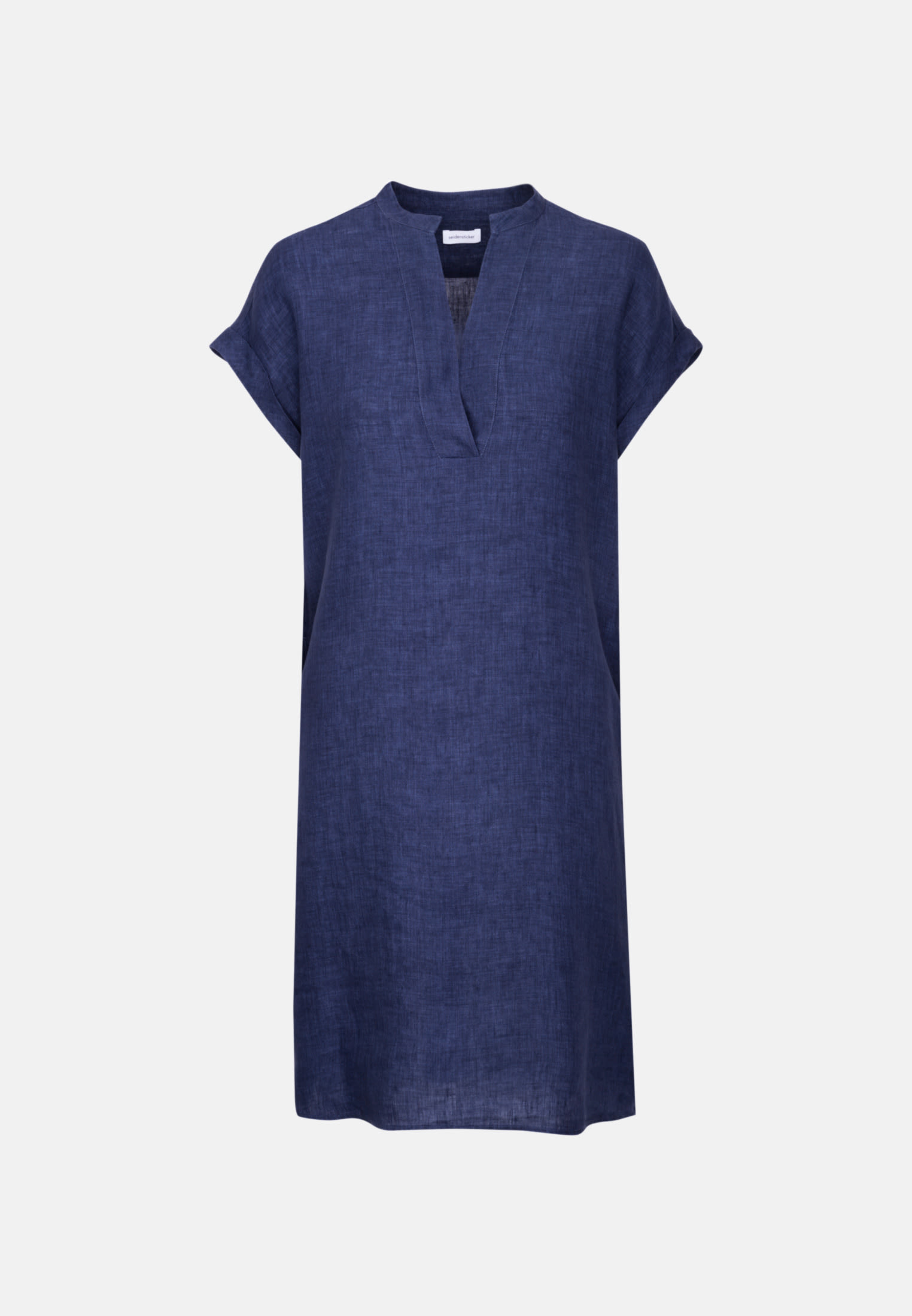 Sleeveless Linen Dress made of 100% Linen in Dark blue |  Seidensticker Onlineshop