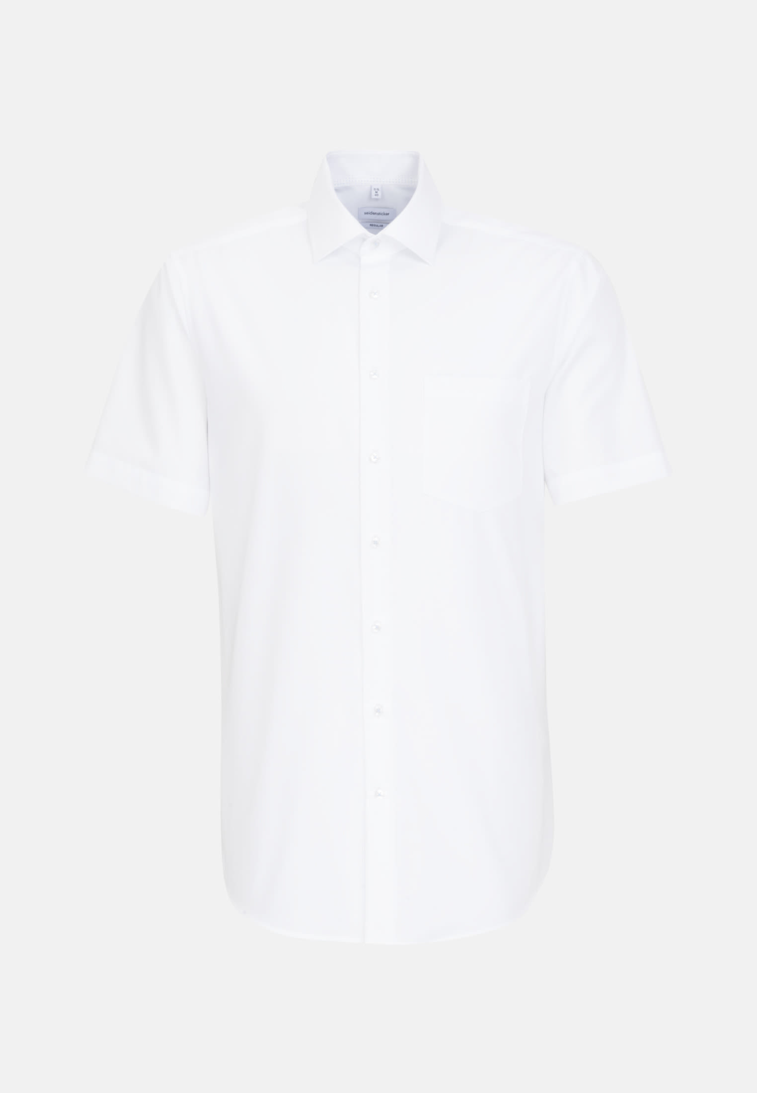 Bügelfreies Popeline Kurzarm Business Hemd in Regular mit Kentkragen in Weiß |  Seidensticker Onlineshop