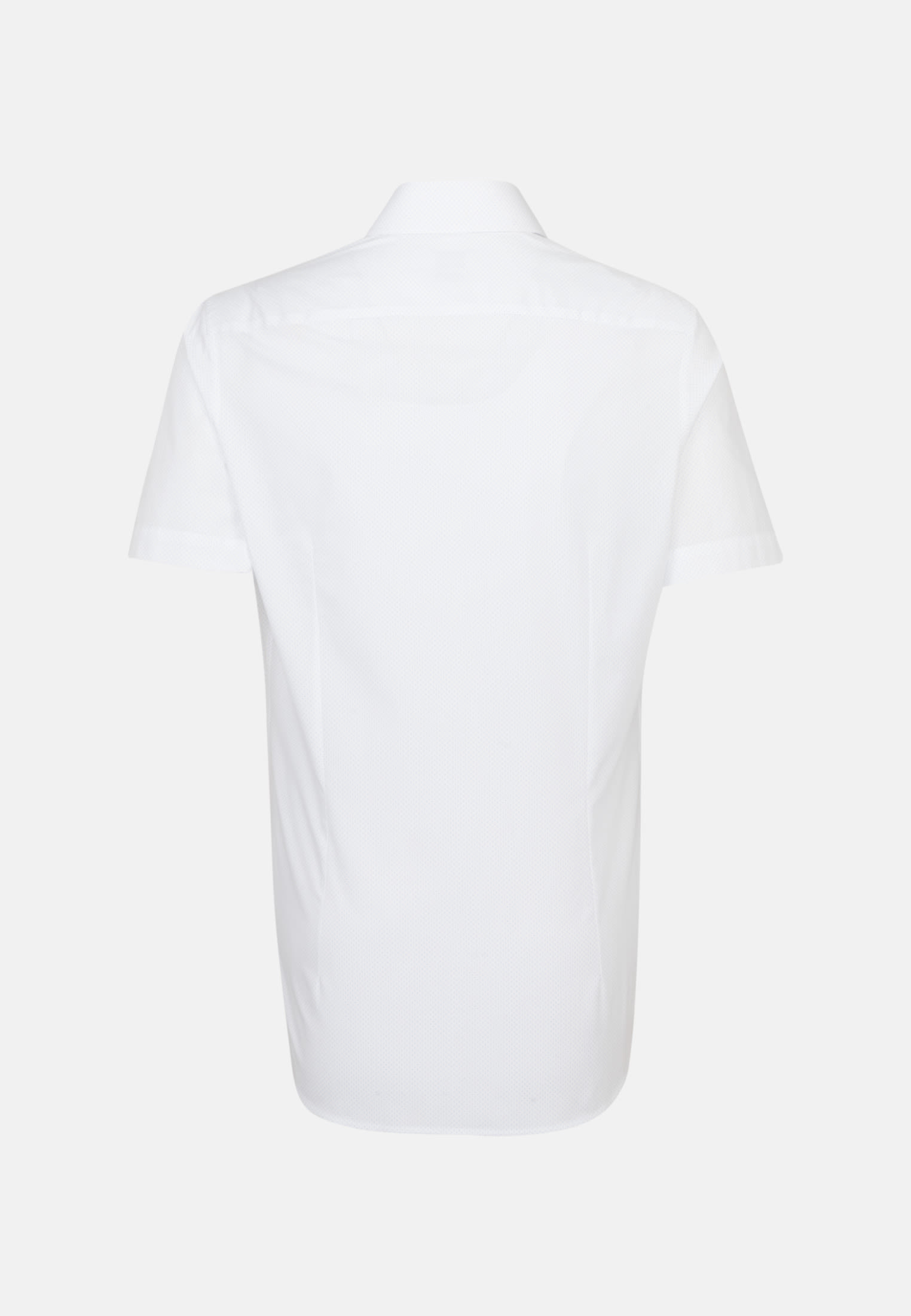 Easy-iron Poplin Short sleeve Business Shirt in Shaped with Kent-Collar in White |  Seidensticker Onlineshop