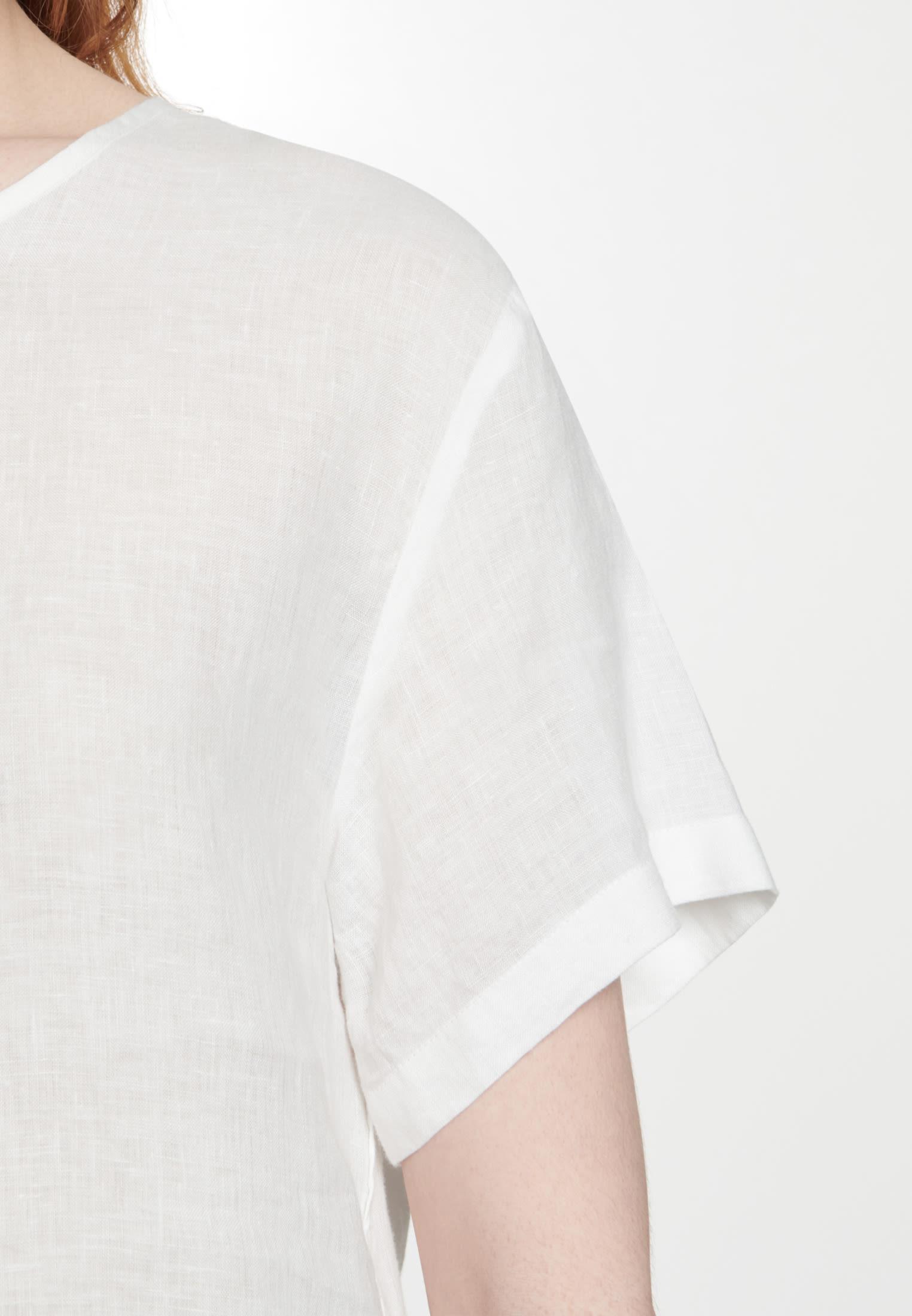 Short sleeve Linen Shirt Blouse made of 100% Linen in Ecru |  Seidensticker Onlineshop