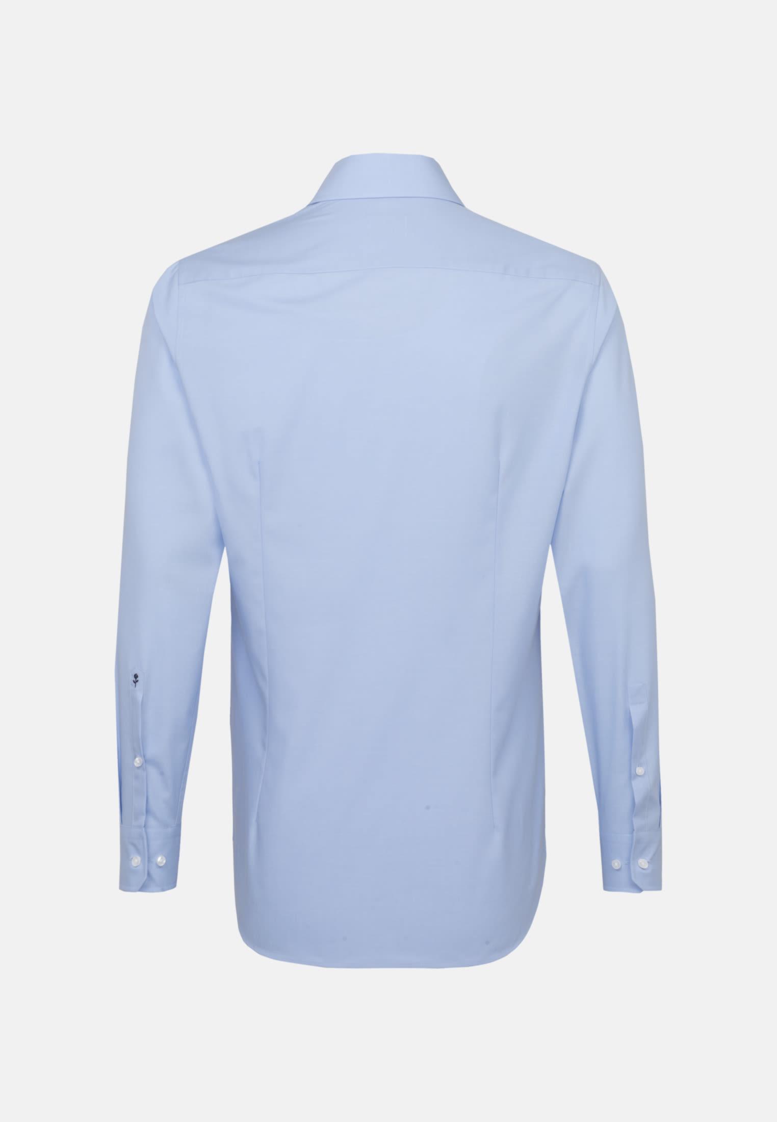 Bügelfreies Fil a fil Business Hemd in Shaped mit Kentkragen in Hellblau |  Seidensticker Onlineshop