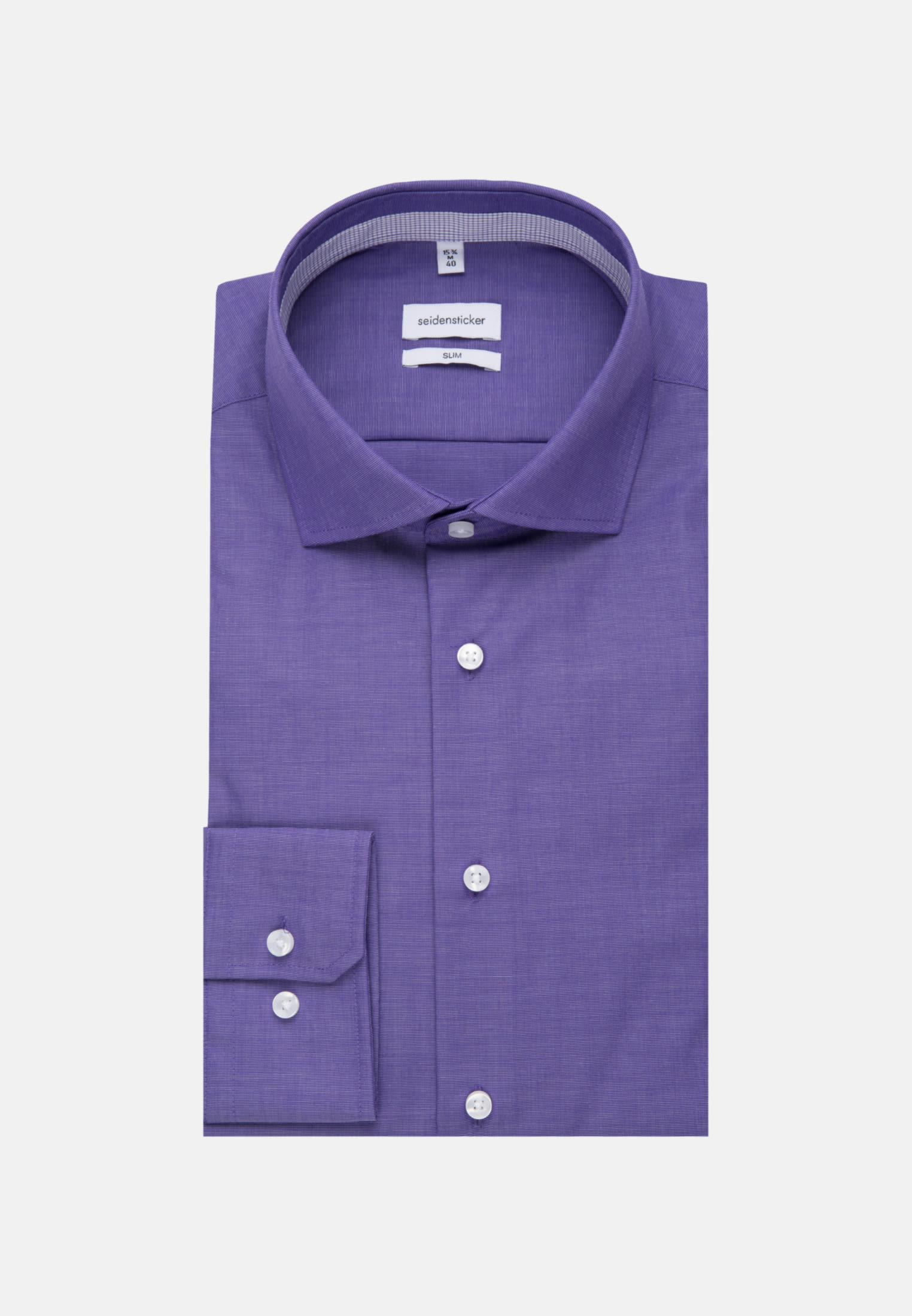 Non-iron Fil a fil Business Shirt in Slim with Kent-Collar in Purple |  Seidensticker Onlineshop