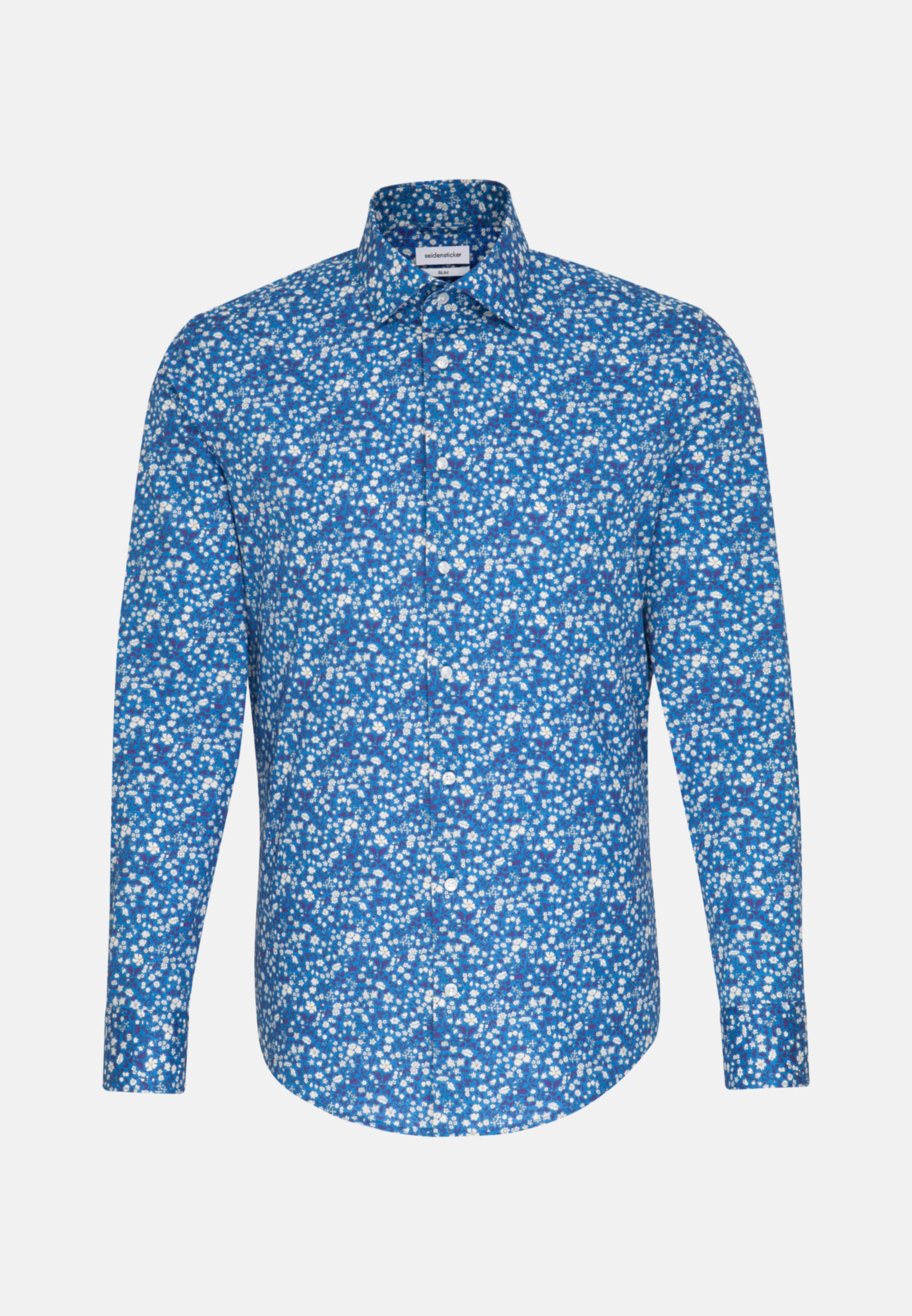 Easy-iron Poplin Business Shirt in Slim with Kent-Collar in Turquoise |  Seidensticker Onlineshop