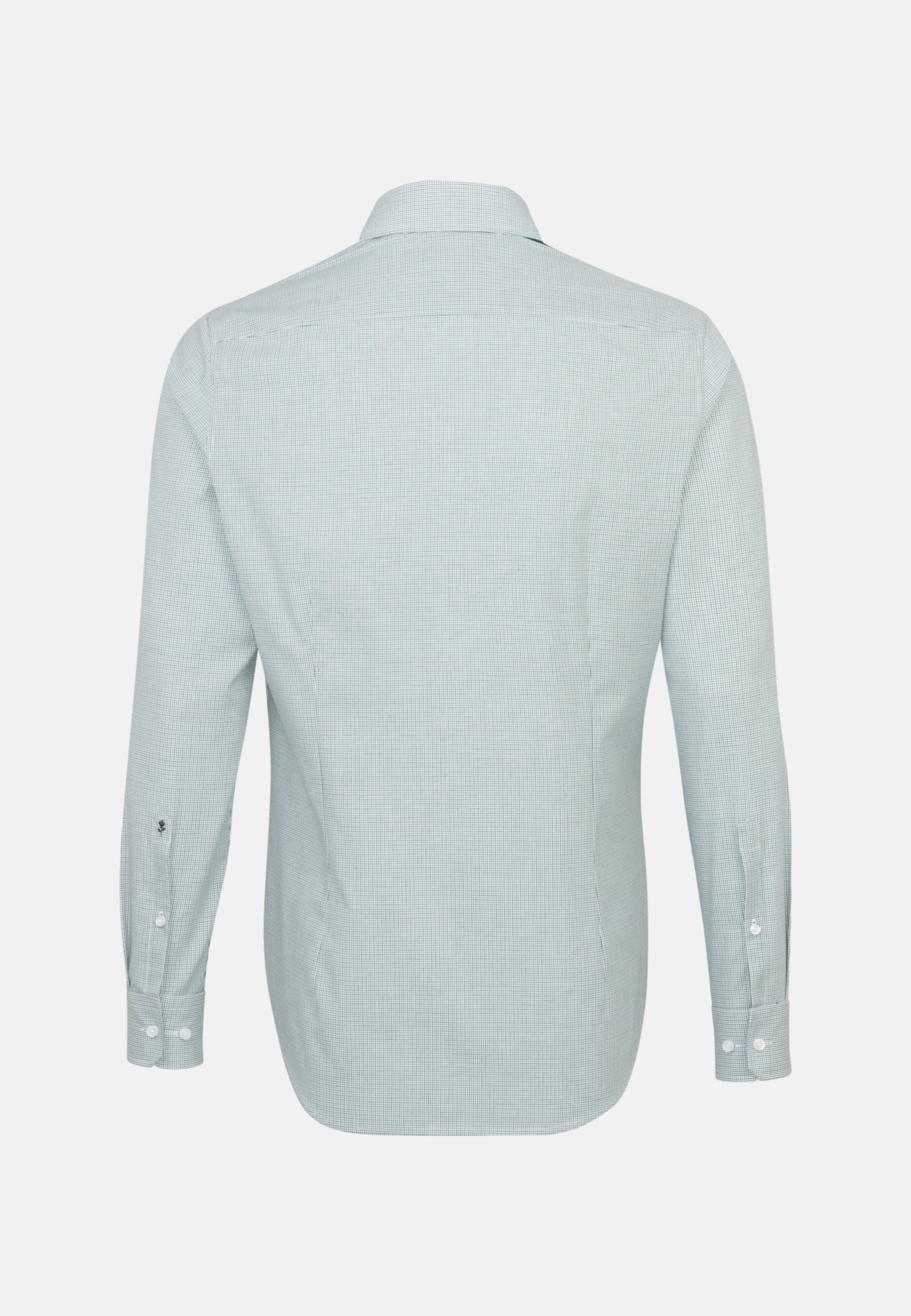 Non-iron Poplin Business Shirt in Shaped with Kent-Collar in Green |  Seidensticker Onlineshop